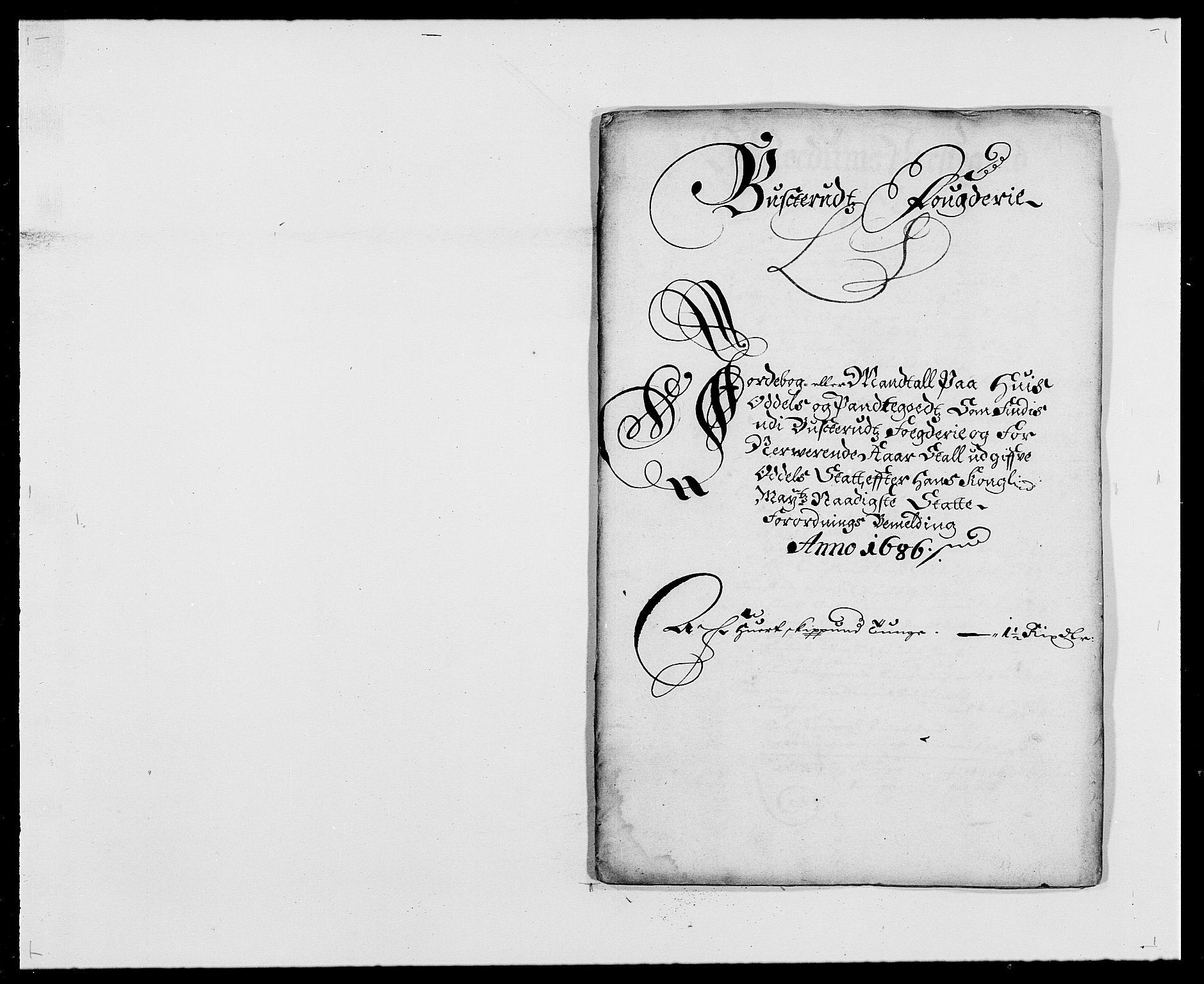 RA, Rentekammeret inntil 1814, Reviderte regnskaper, Fogderegnskap, R25/L1678: Fogderegnskap Buskerud, 1685-1686, s. 309