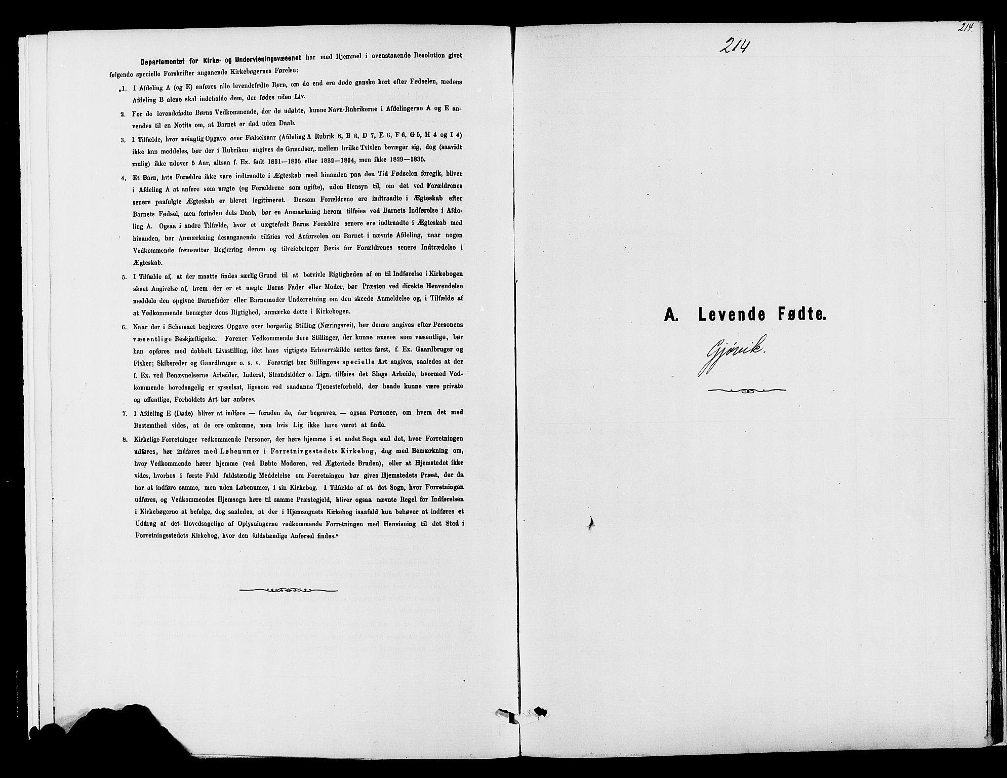 SAH, Vardal prestekontor, H/Ha/Haa/L0008: Ministerialbok nr. 8, 1878-1890, s. 214