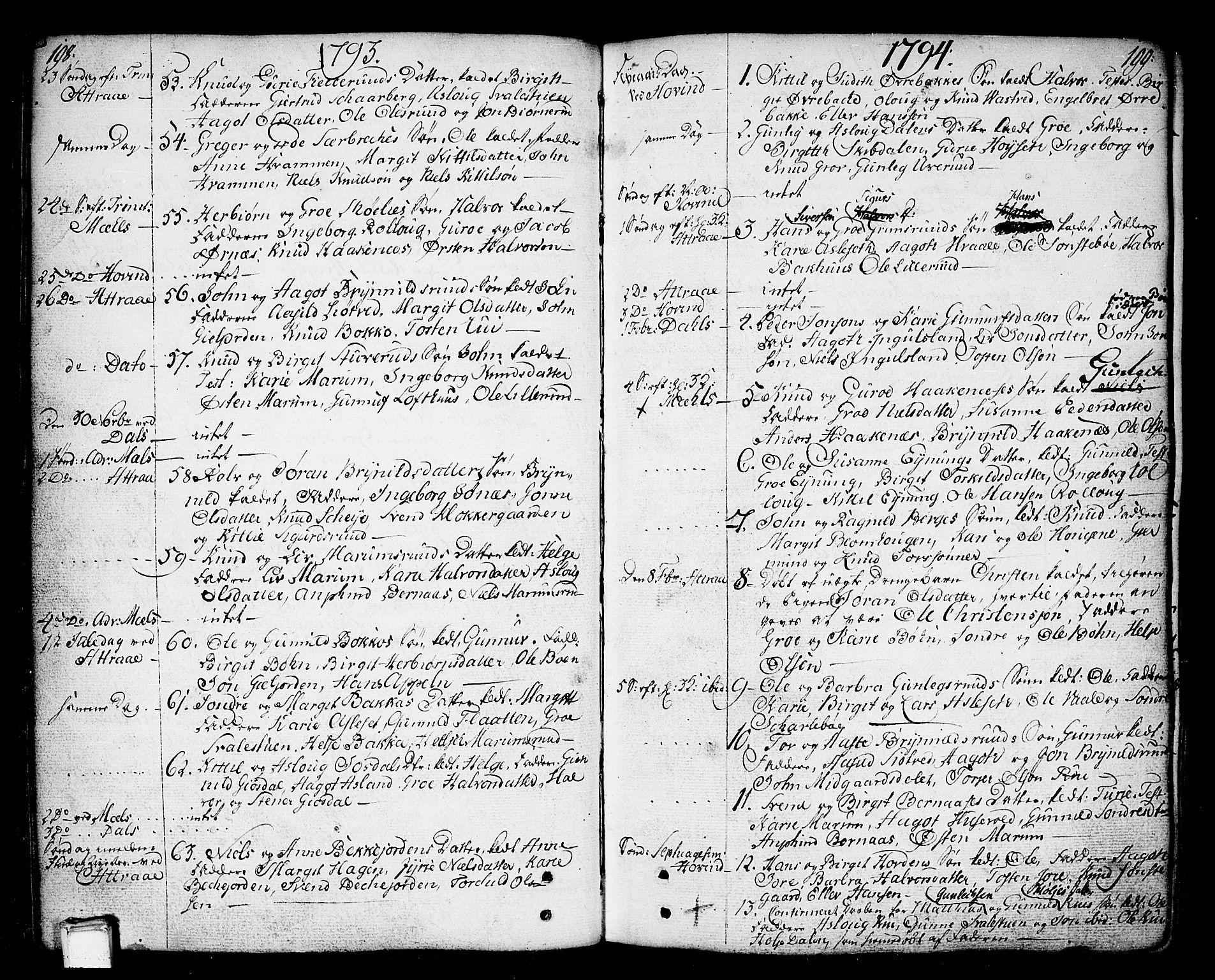SAKO, Tinn kirkebøker, F/Fa/L0002: Ministerialbok nr. I 2, 1757-1810, s. 198-199