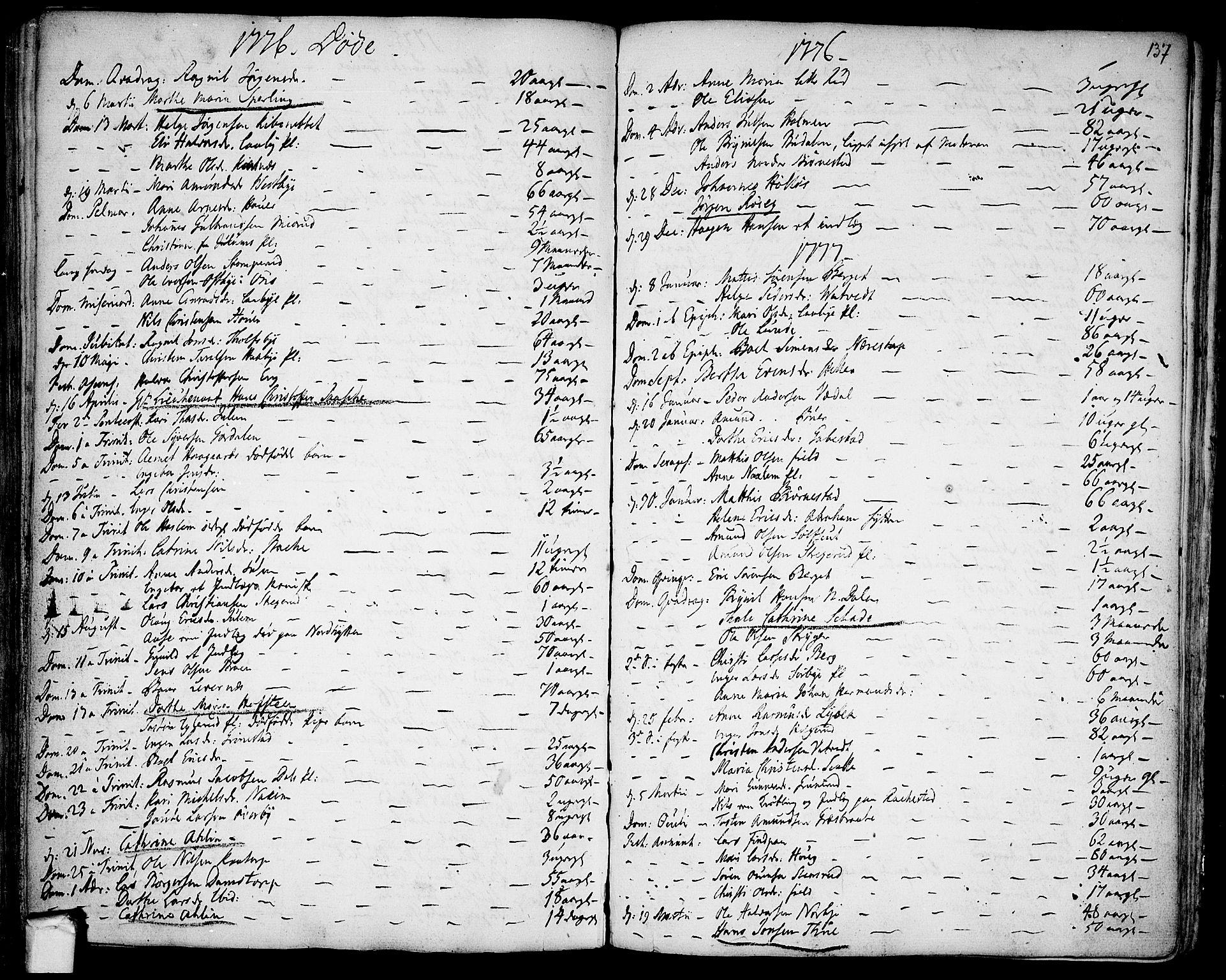 SAO, Rakkestad prestekontor Kirkebøker, F/Fa/L0003: Ministerialbok nr. I 3, 1752-1777, s. 137