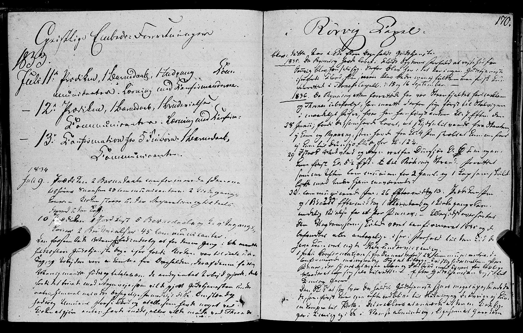 SAT, Ministerialprotokoller, klokkerbøker og fødselsregistre - Nord-Trøndelag, 762/L0538: Ministerialbok nr. 762A02 /1, 1833-1879, s. 170
