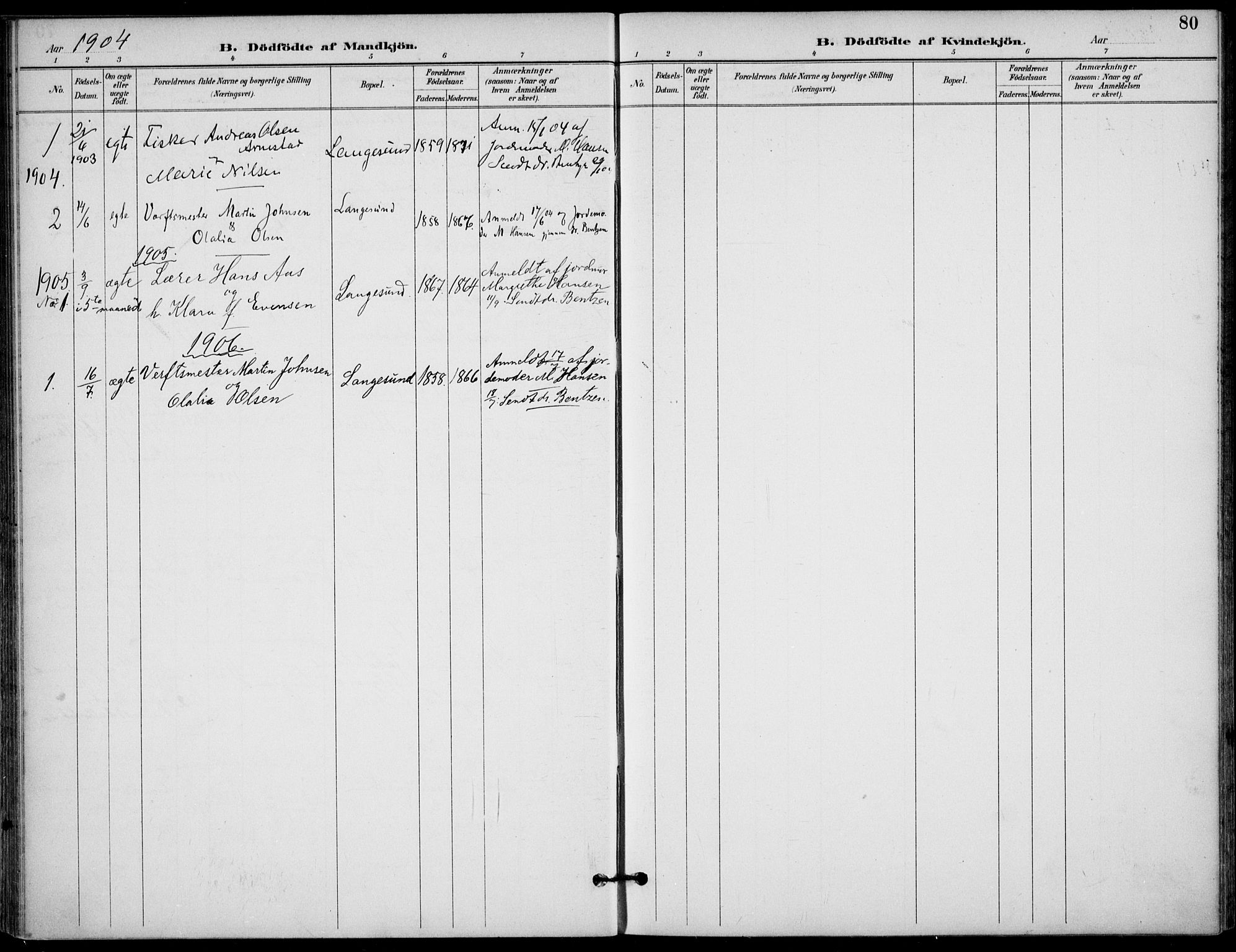 SAKO, Langesund kirkebøker, F/Fa/L0003: Ministerialbok nr. 3, 1893-1907, s. 80