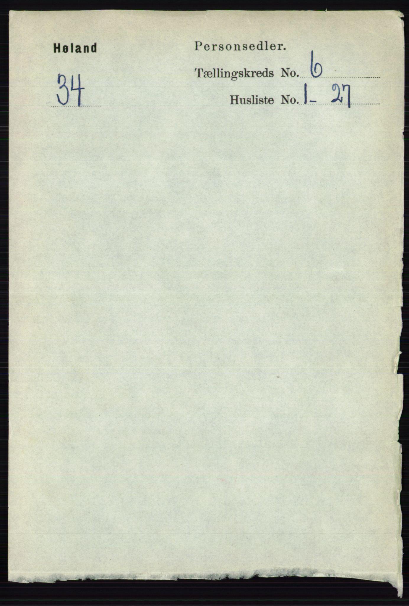RA, Folketelling 1891 for 0221 Høland herred, 1891, s. 4339