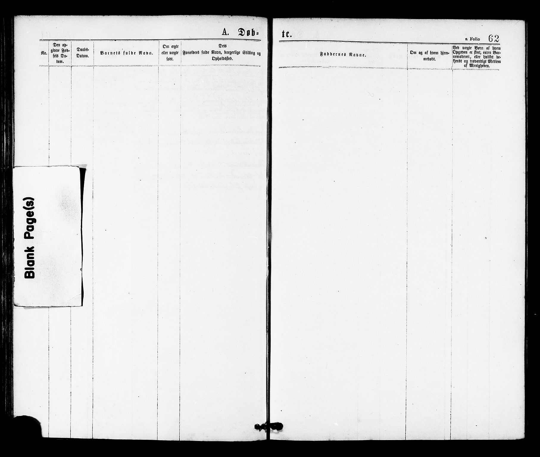 SAT, Ministerialprotokoller, klokkerbøker og fødselsregistre - Sør-Trøndelag, 655/L0679: Ministerialbok nr. 655A08, 1873-1879, s. 62
