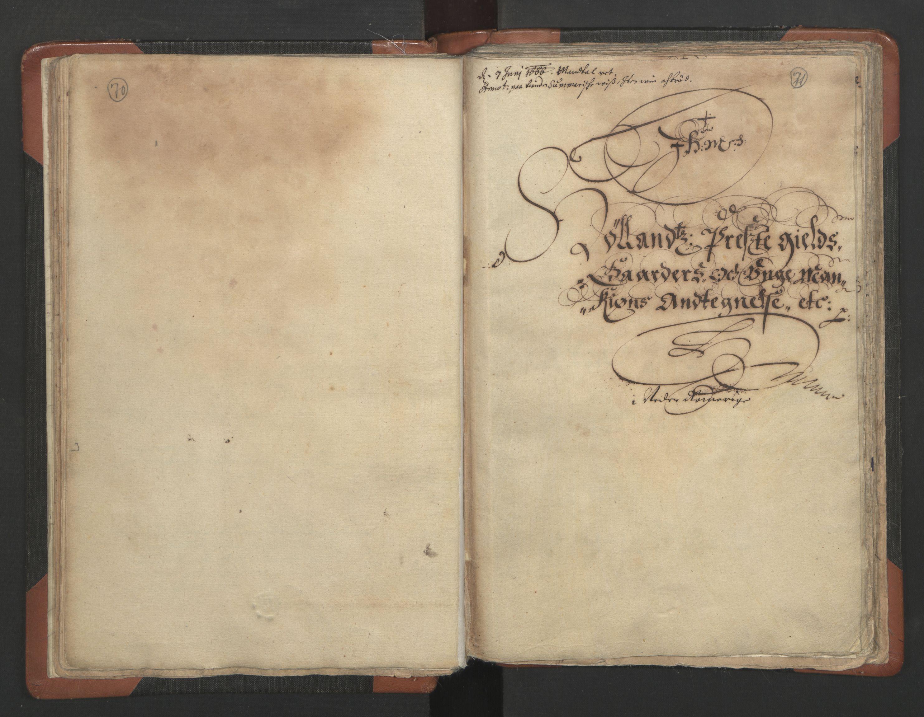 RA, Sogneprestenes manntall 1664-1666, nr. 3: Nedre Romerike prosti, 1664-1666, s. 70-71