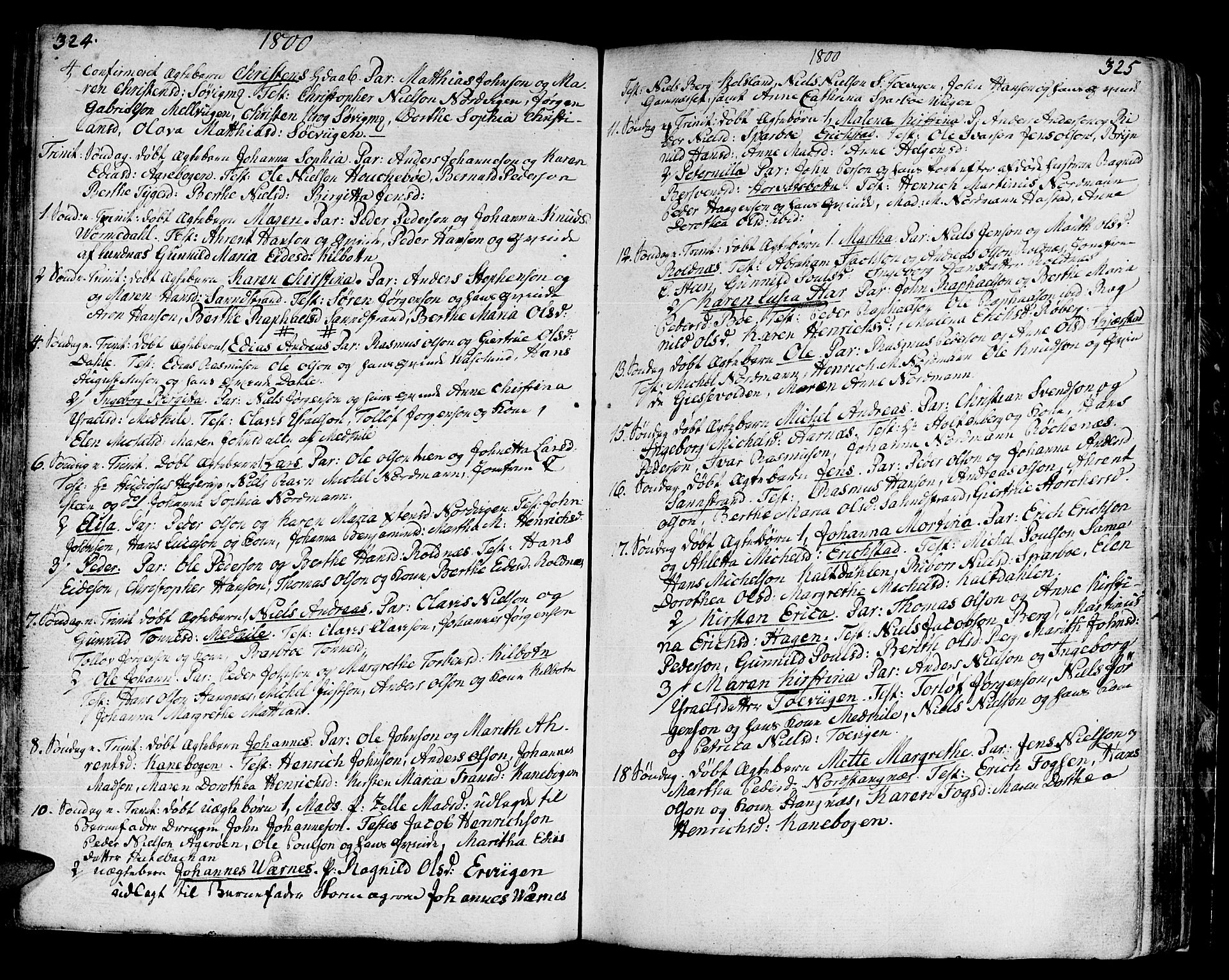 SATØ, Trondenes sokneprestkontor, H/Ha/L0003kirke: Ministerialbok nr. 3, 1783-1803, s. 324-325
