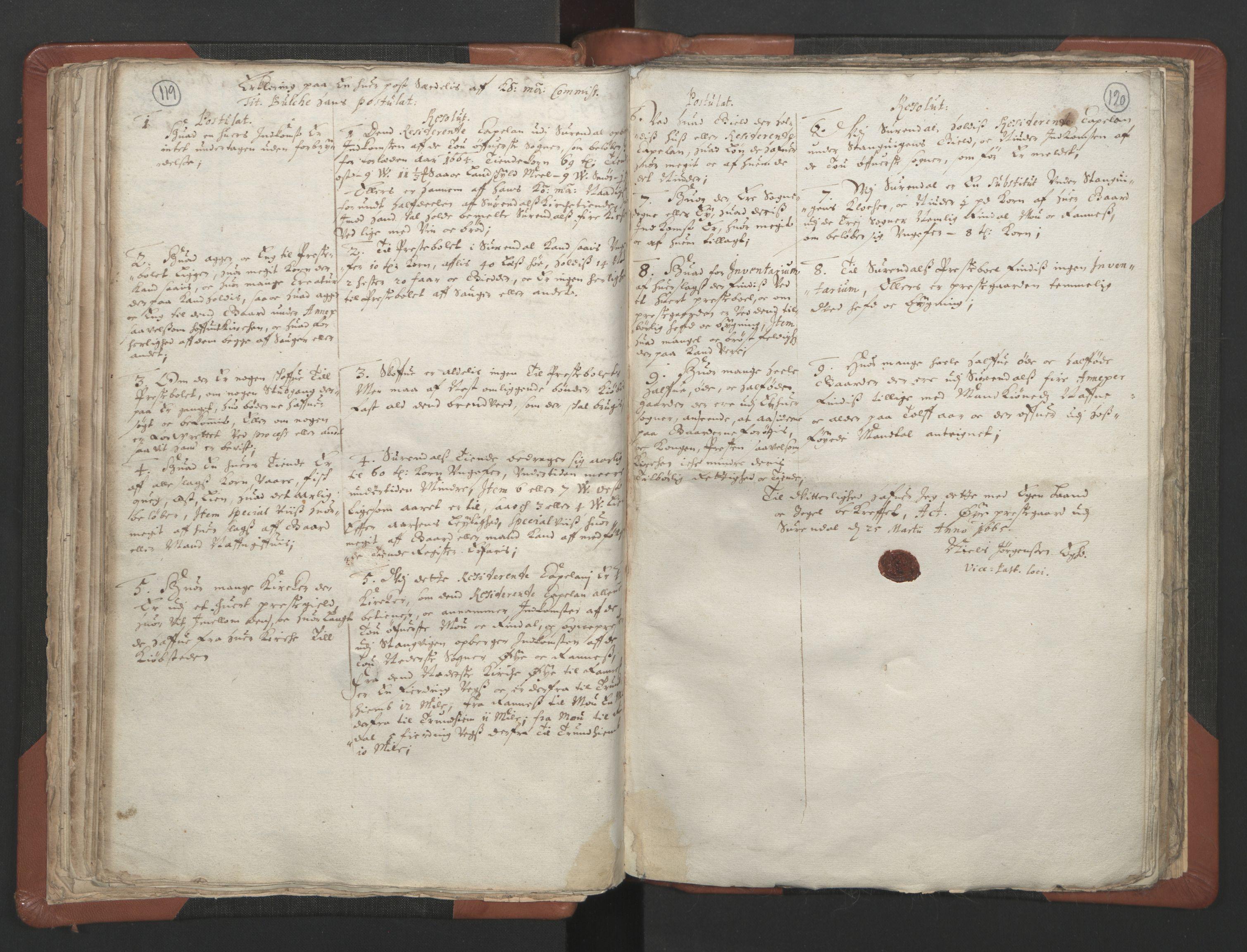 RA, Sogneprestenes manntall 1664-1666, nr. 29: Nordmøre prosti, 1664-1666, s. 119-120