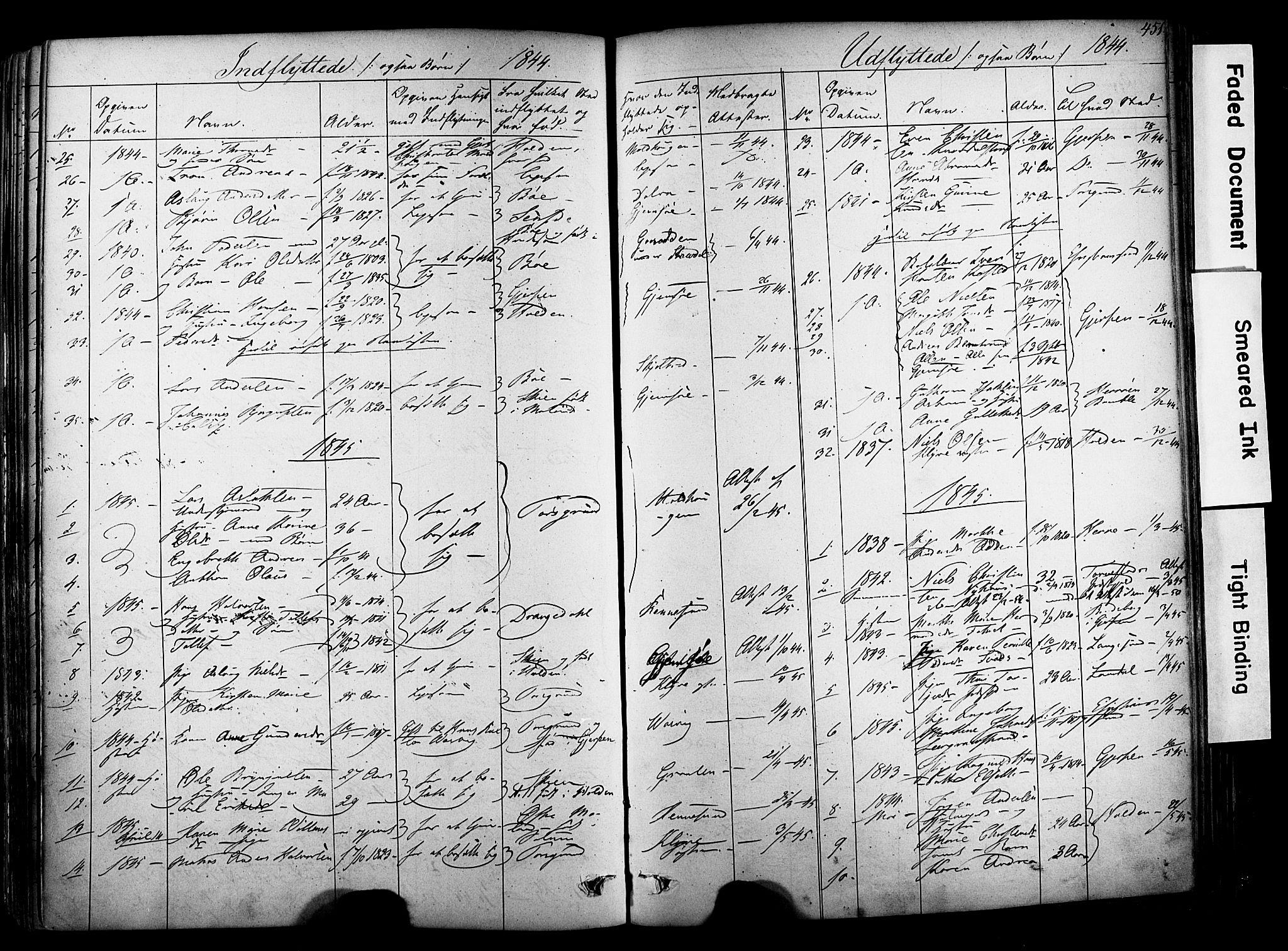 SAKO, Solum kirkebøker, F/Fa/L0006: Ministerialbok nr. I 6, 1844-1855, s. 451