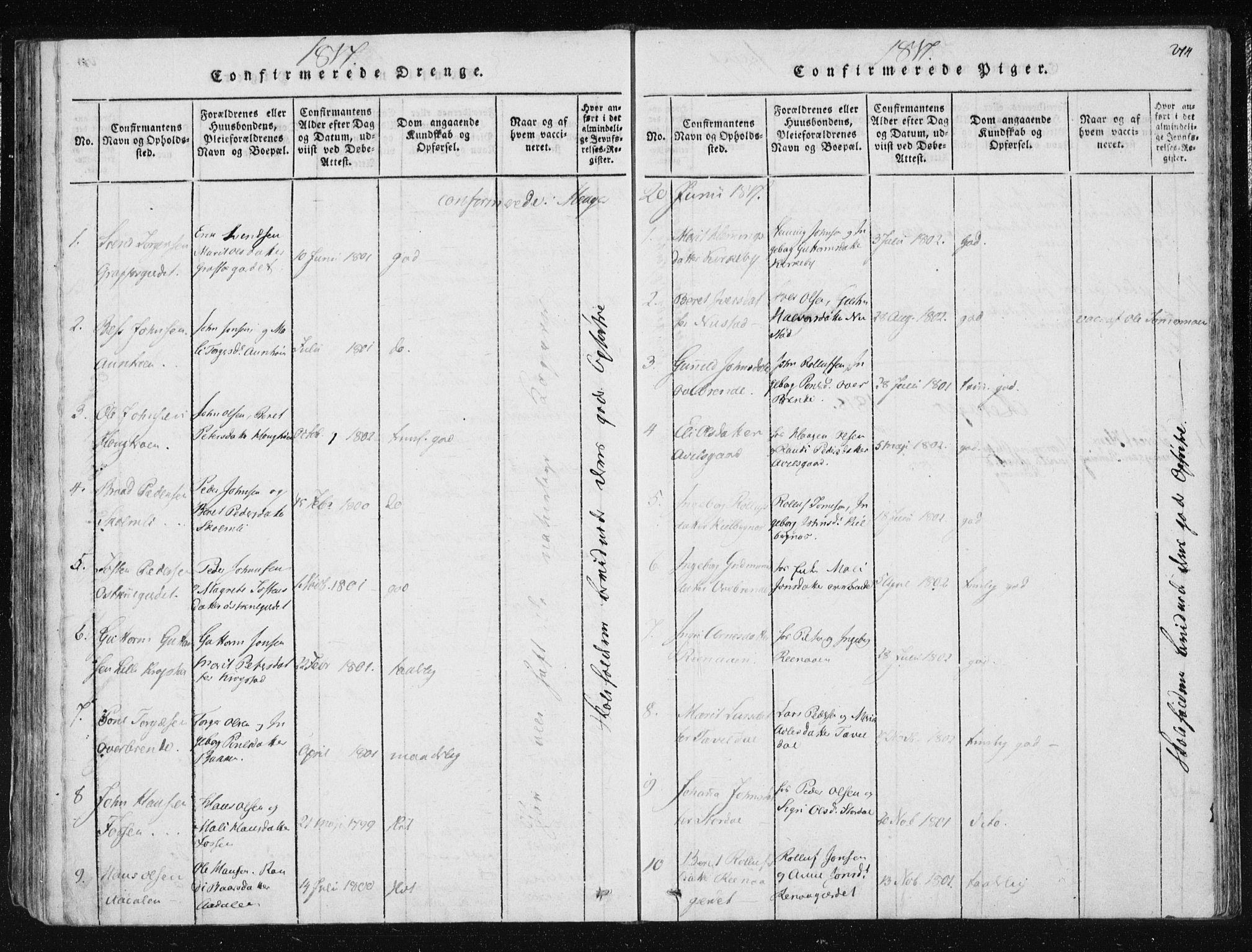 SAT, Ministerialprotokoller, klokkerbøker og fødselsregistre - Nord-Trøndelag, 709/L0061: Ministerialbok nr. 709A08 /4, 1815-1819, s. 274