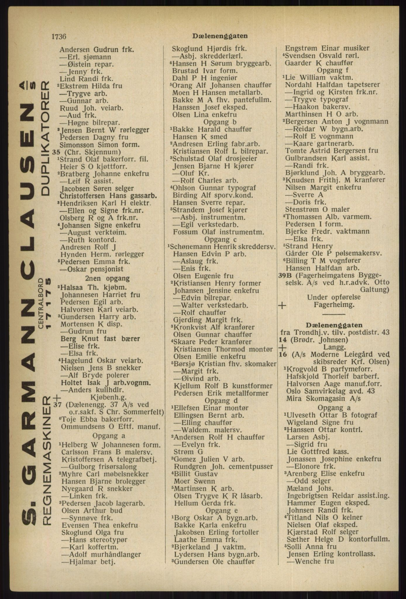 PUBL, Kristiania/Oslo adressebok, 1937, s. 1736