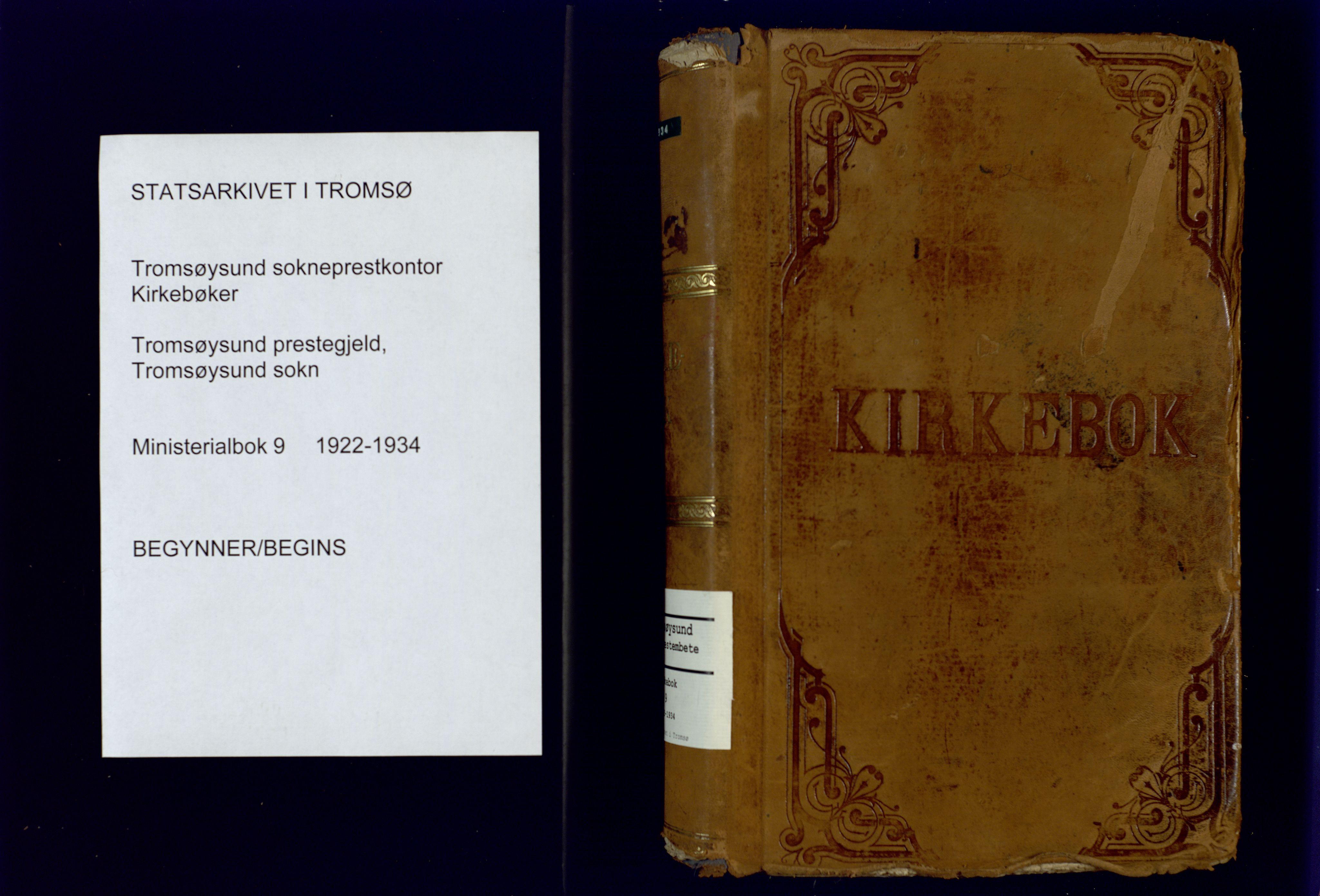 SATØ, Tromsøysund sokneprestkontor, G/Ga: Ministerialbok nr. 9, 1922-1934