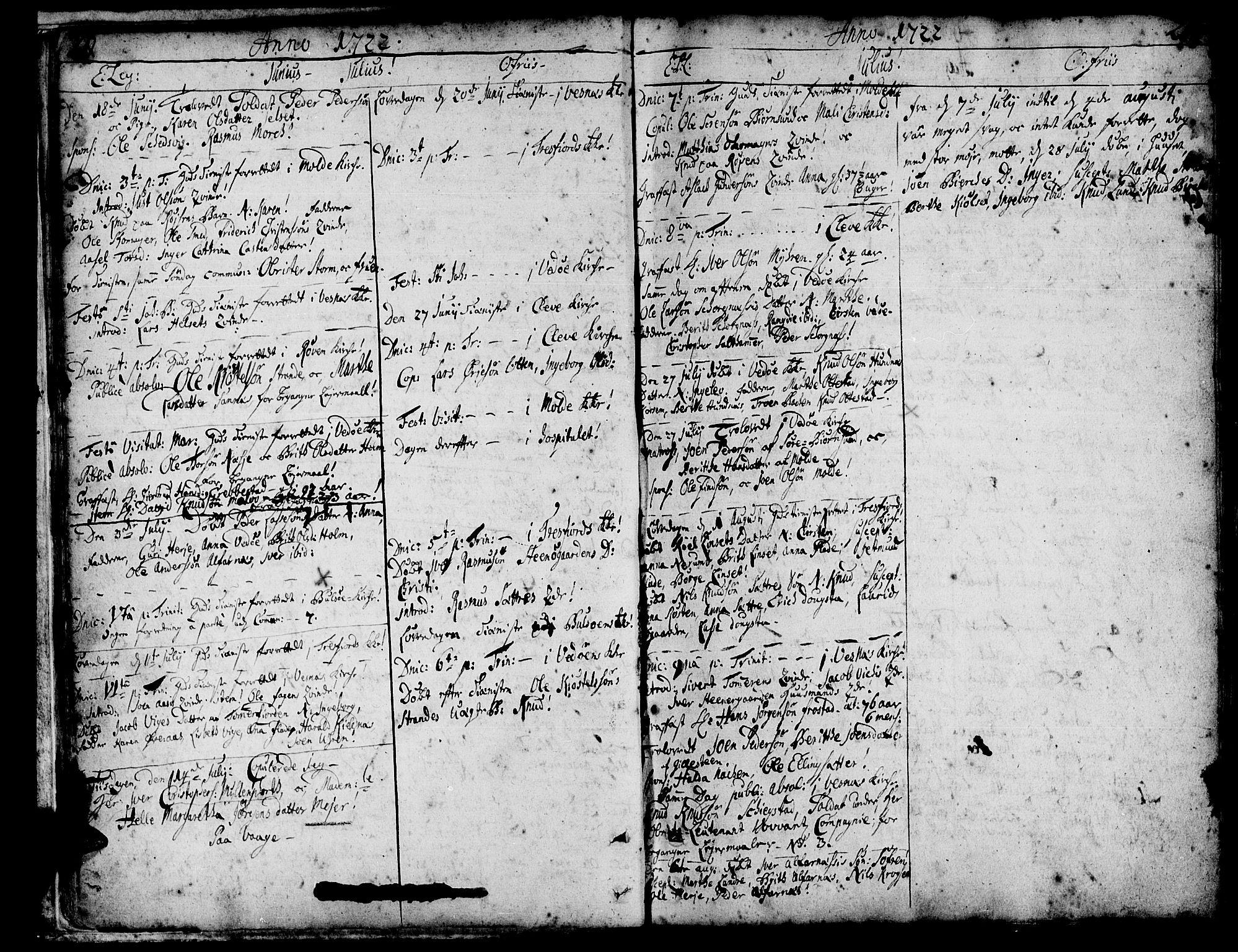 SAT, Ministerialprotokoller, klokkerbøker og fødselsregistre - Møre og Romsdal, 547/L0599: Ministerialbok nr. 547A01, 1721-1764, s. 20-21