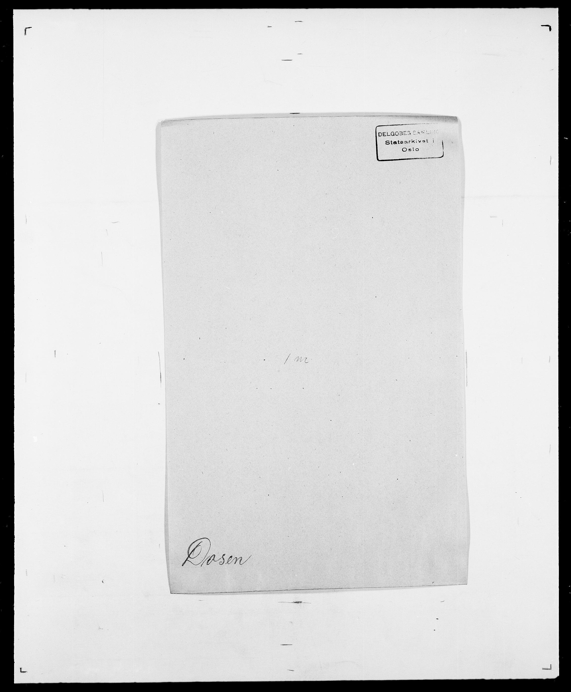 SAO, Delgobe, Charles Antoine - samling, D/Da/L0009: Dahl - v. Düren, s. 706