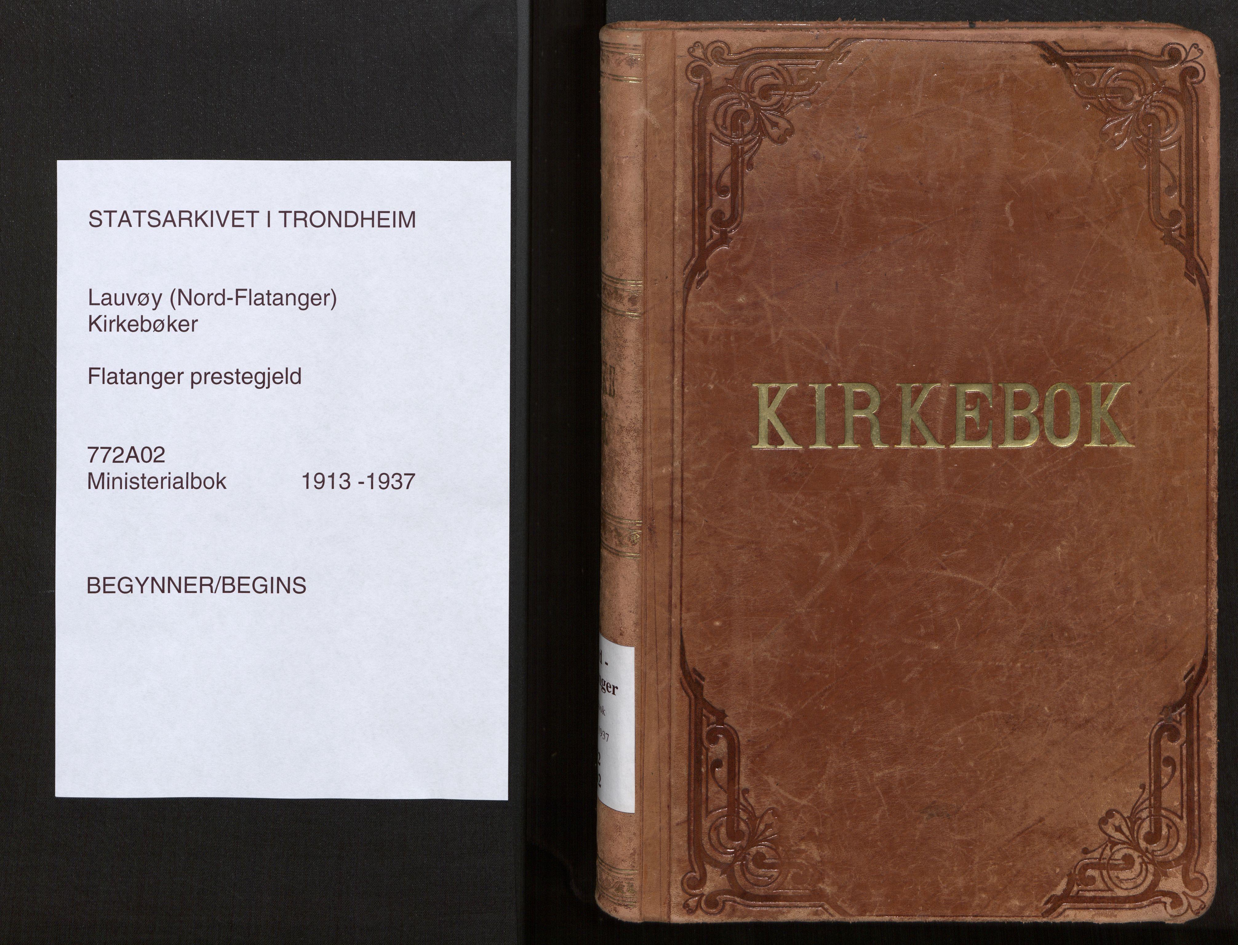 SAT, Ministerialprotokoller, klokkerbøker og fødselsregistre - Nord-Trøndelag, 772/L0604: Ministerialbok nr. 772A02, 1913-1937