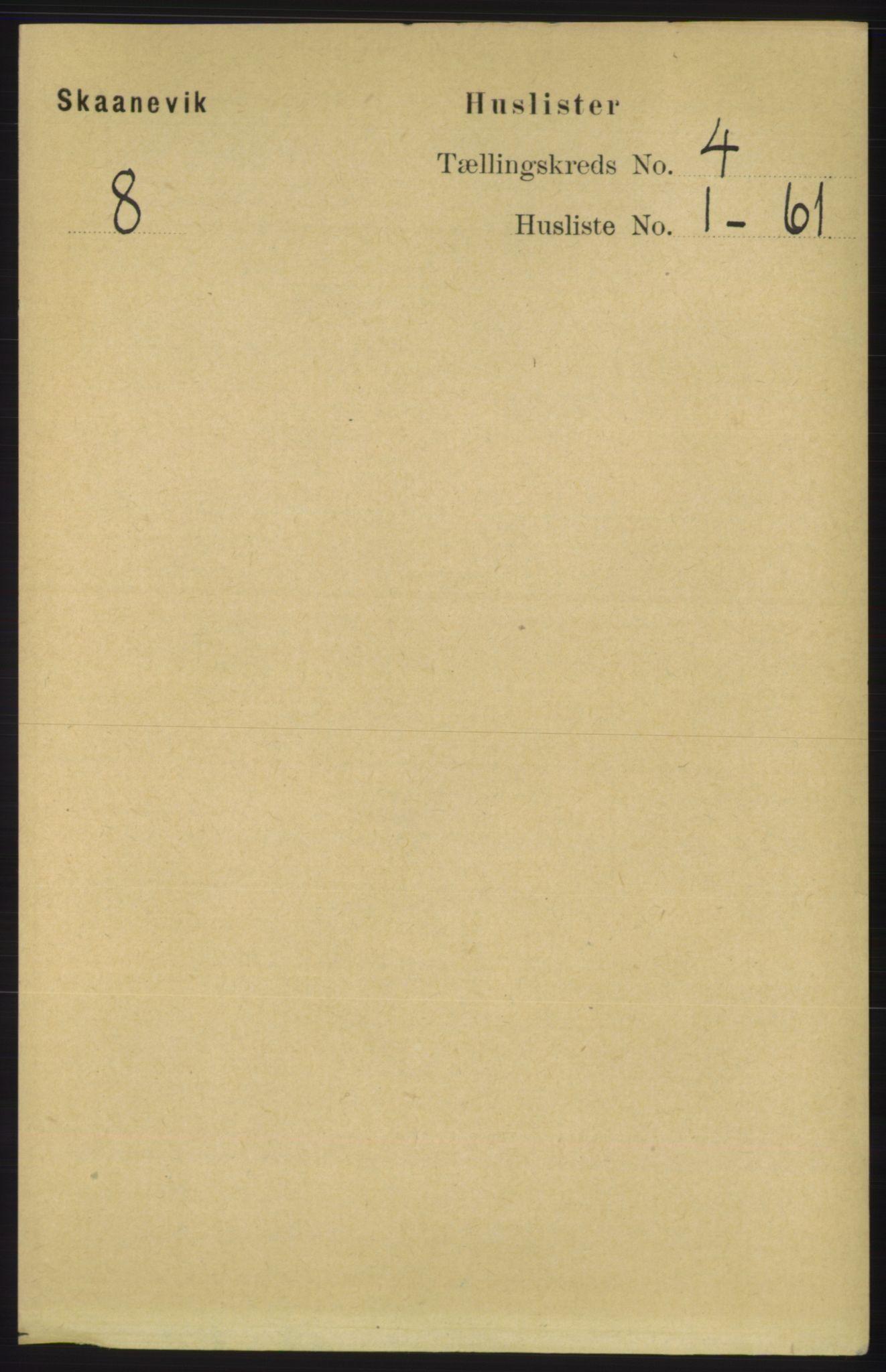 RA, Folketelling 1891 for 1212 Skånevik herred, 1891, s. 779