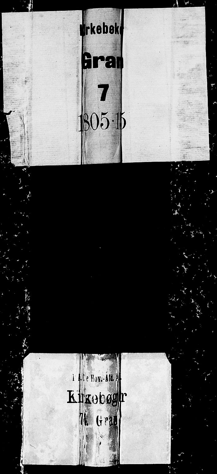 SAH, Gran prestekontor, Ministerialbok nr. 7, 1804-1815