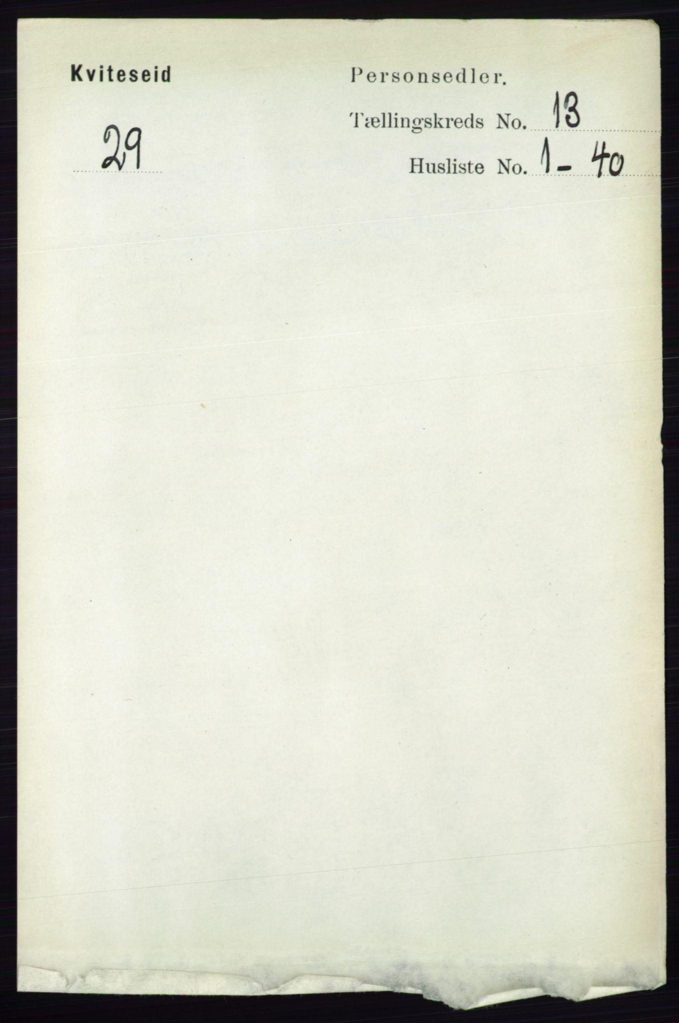 RA, Folketelling 1891 for 0829 Kviteseid herred, 1891, s. 3081