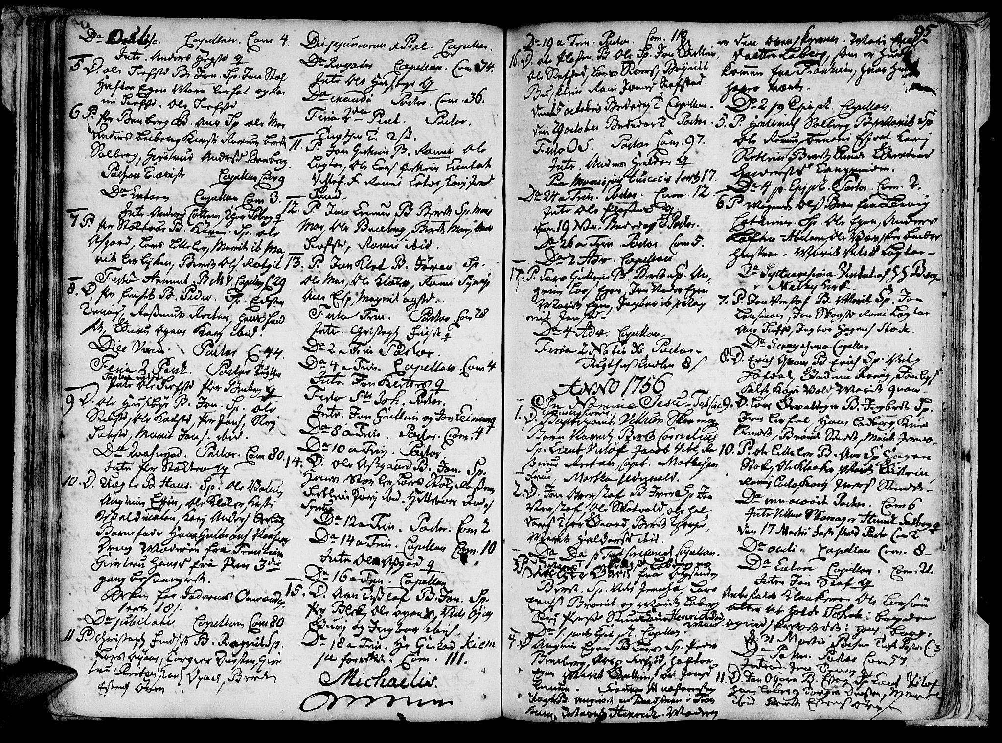 SAT, Ministerialprotokoller, klokkerbøker og fødselsregistre - Sør-Trøndelag, 691/L1059: Ministerialbok nr. 691A01 /3, 1740-1767, s. 95