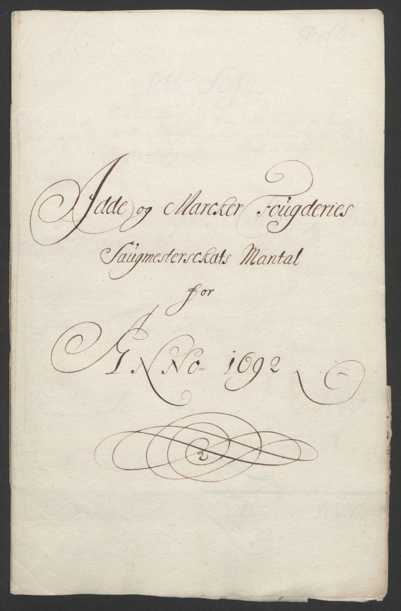 RA, Rentekammeret inntil 1814, Reviderte regnskaper, Fogderegnskap, R01/L0011: Fogderegnskap Idd og Marker, 1692-1693, s. 89