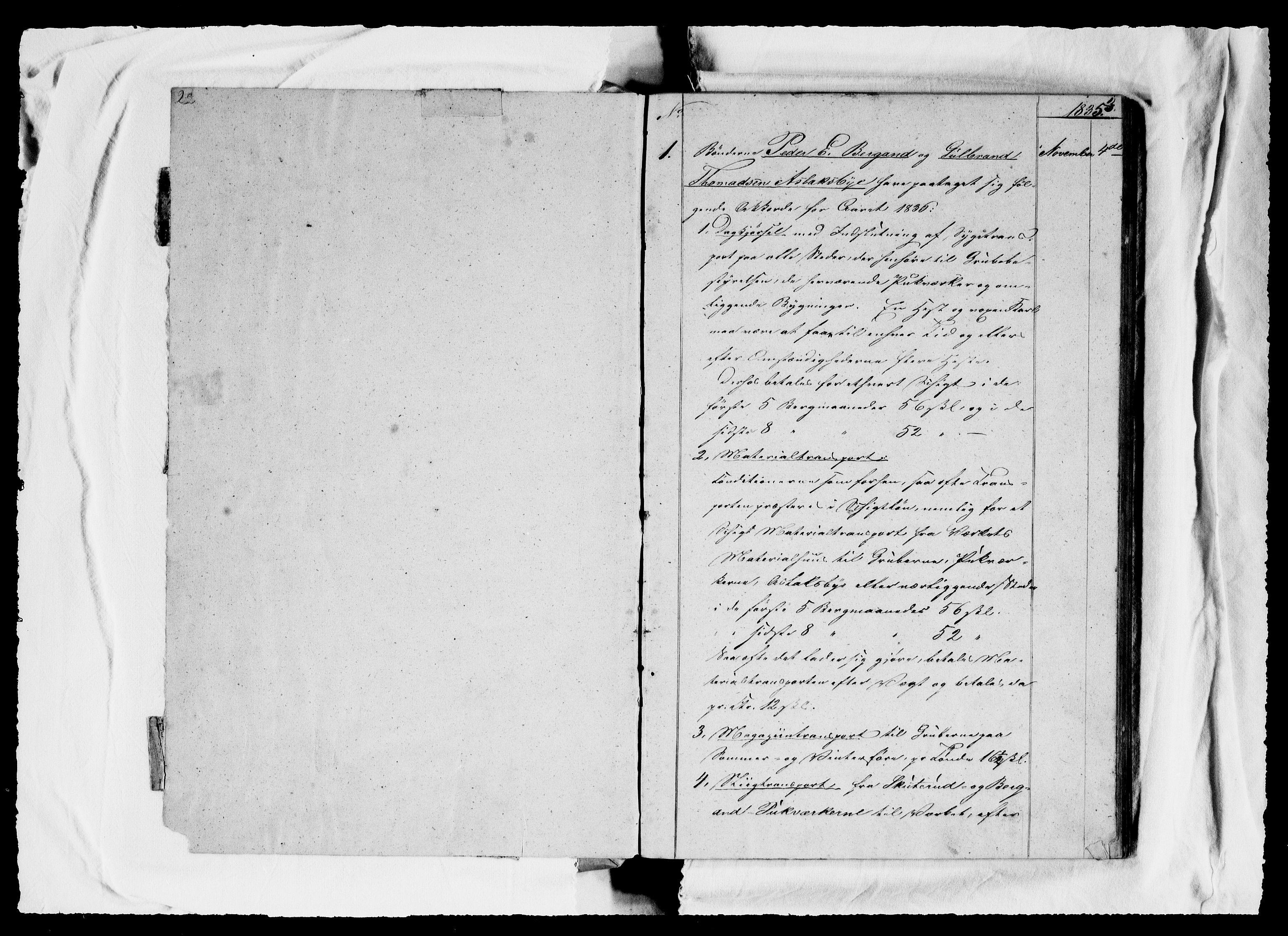 RA, Modums Blaafarveværk, G/Ga/L0062, 1835-1848, s. 2