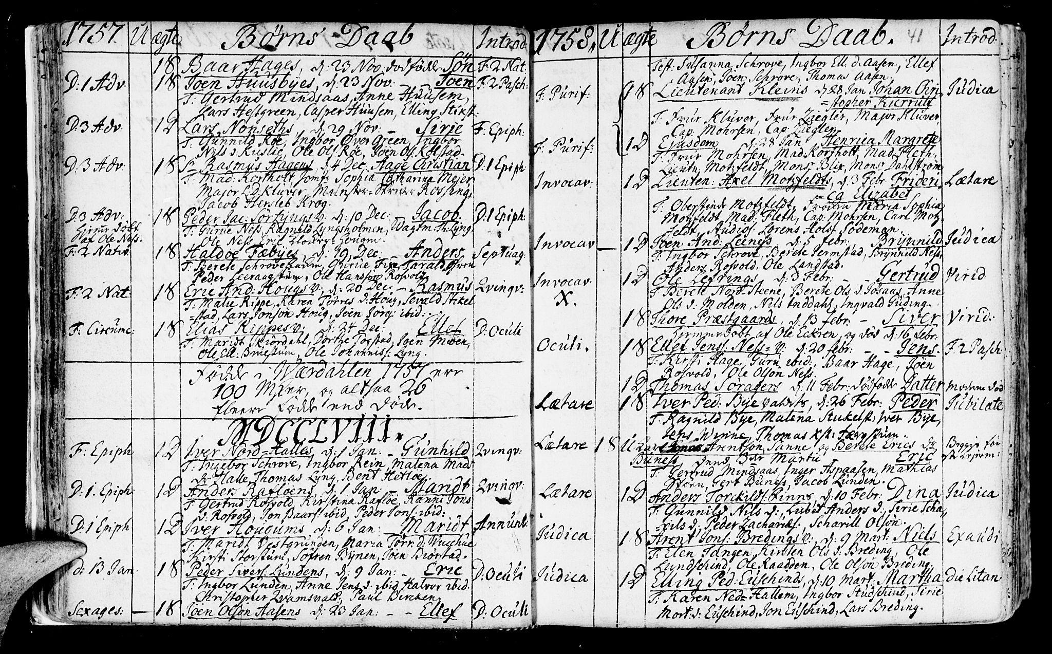 SAT, Ministerialprotokoller, klokkerbøker og fødselsregistre - Nord-Trøndelag, 723/L0231: Ministerialbok nr. 723A02, 1748-1780, s. 41