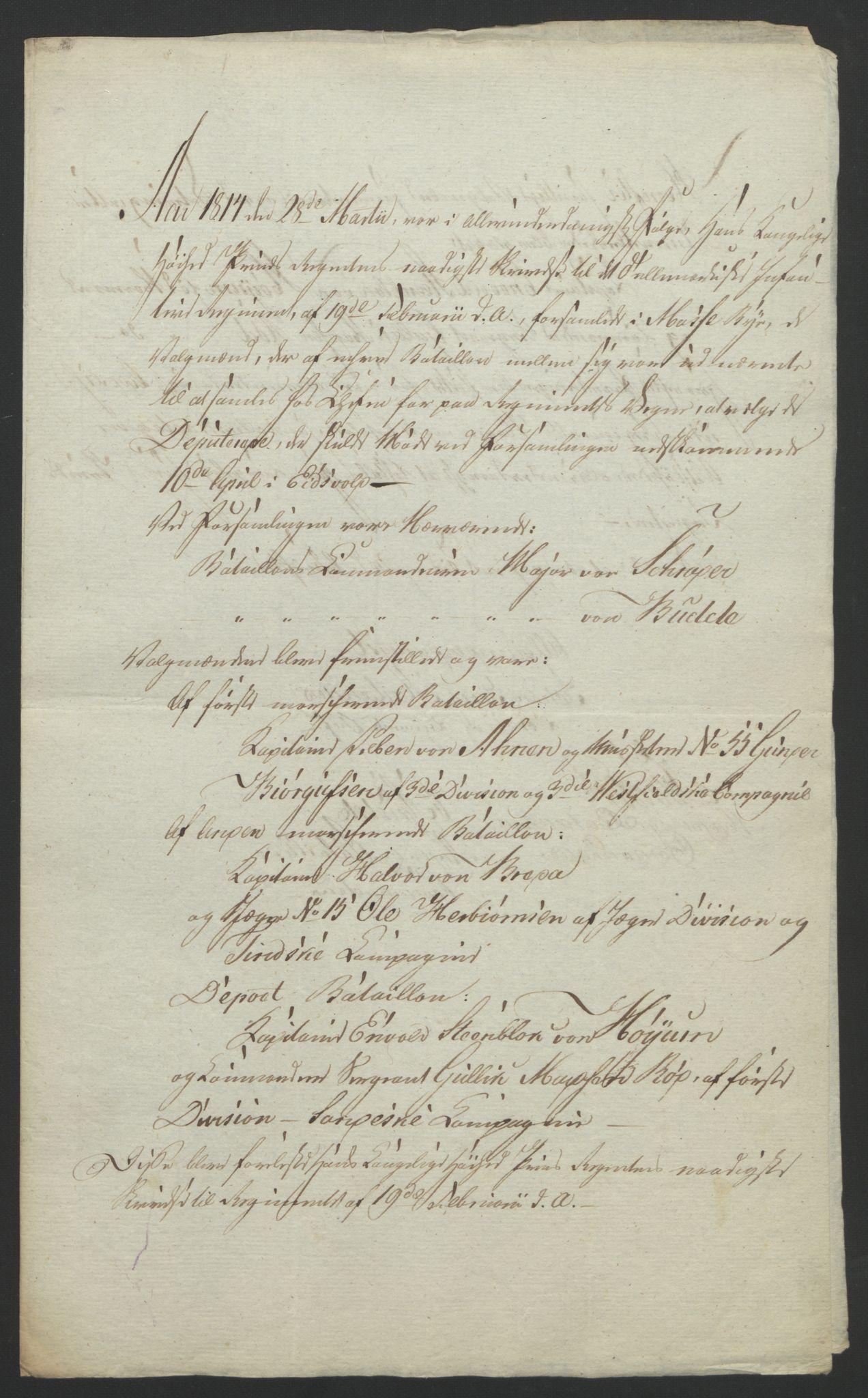 RA, Statsrådssekretariatet, D/Db/L0007: Fullmakter for Eidsvollsrepresentantene i 1814. , 1814, s. 114