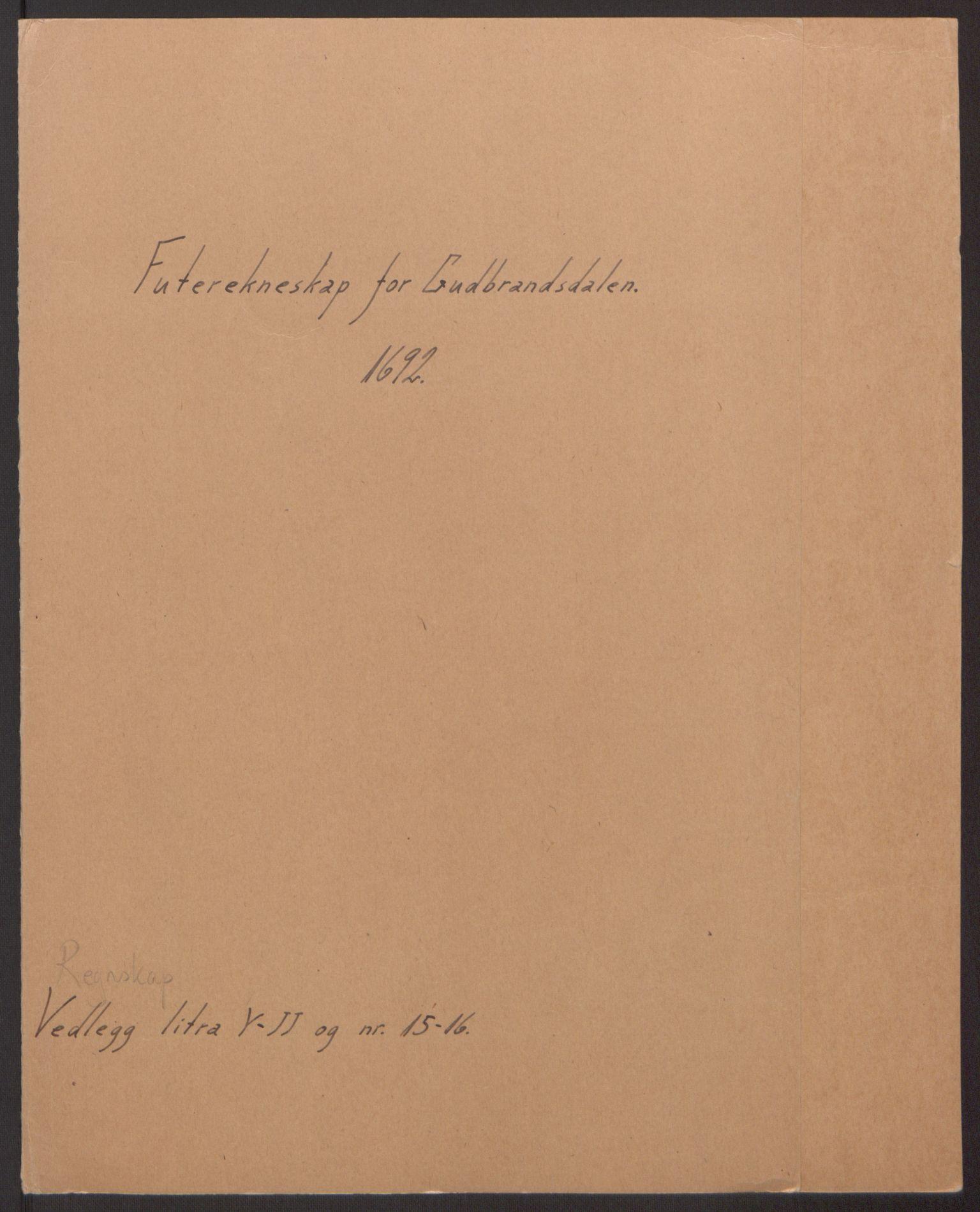 RA, Rentekammeret inntil 1814, Reviderte regnskaper, Fogderegnskap, R17/L1166: Fogderegnskap Gudbrandsdal, 1690-1692, s. 2