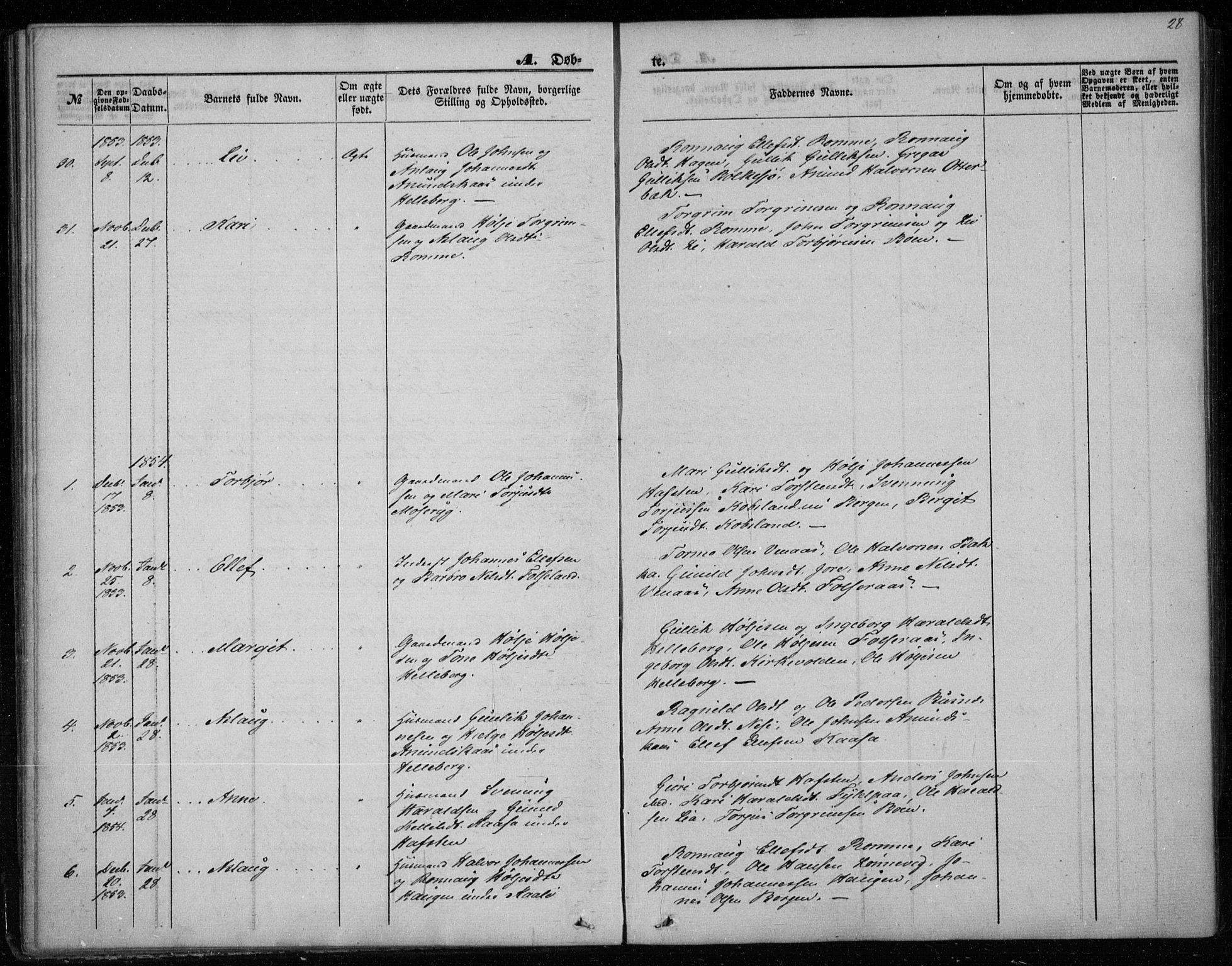 SAKO, Gransherad kirkebøker, F/Fa/L0002: Ministerialbok nr. I 2, 1844-1859, s. 28
