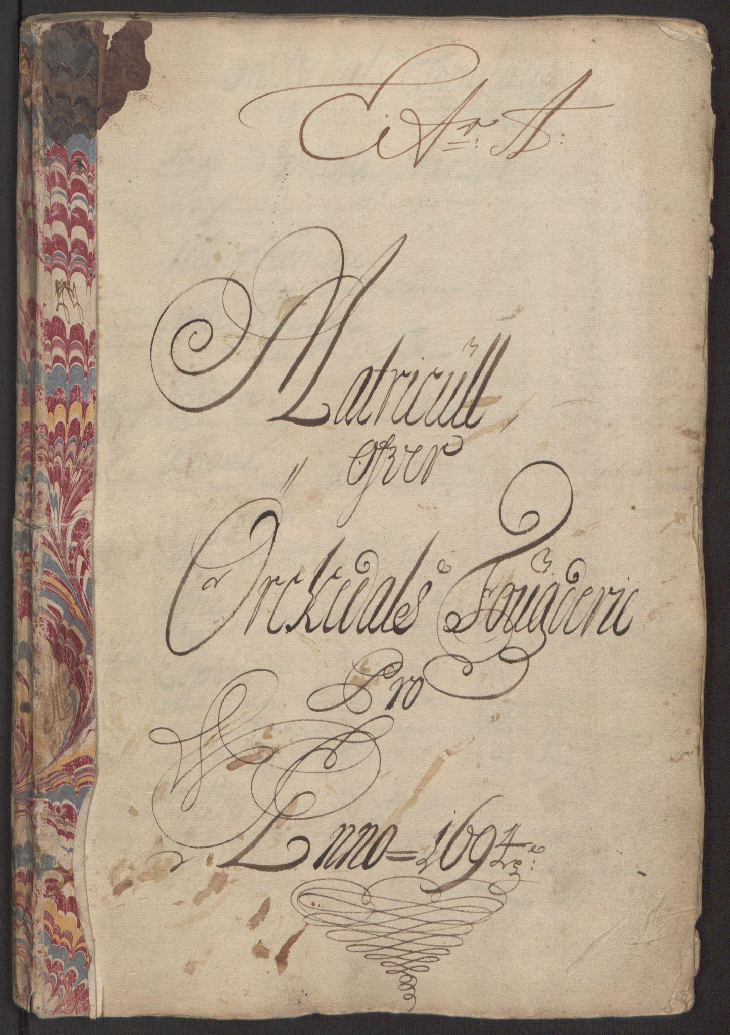 RA, Rentekammeret inntil 1814, Reviderte regnskaper, Fogderegnskap, R60/L3944: Fogderegnskap Orkdal og Gauldal, 1694, s. 6