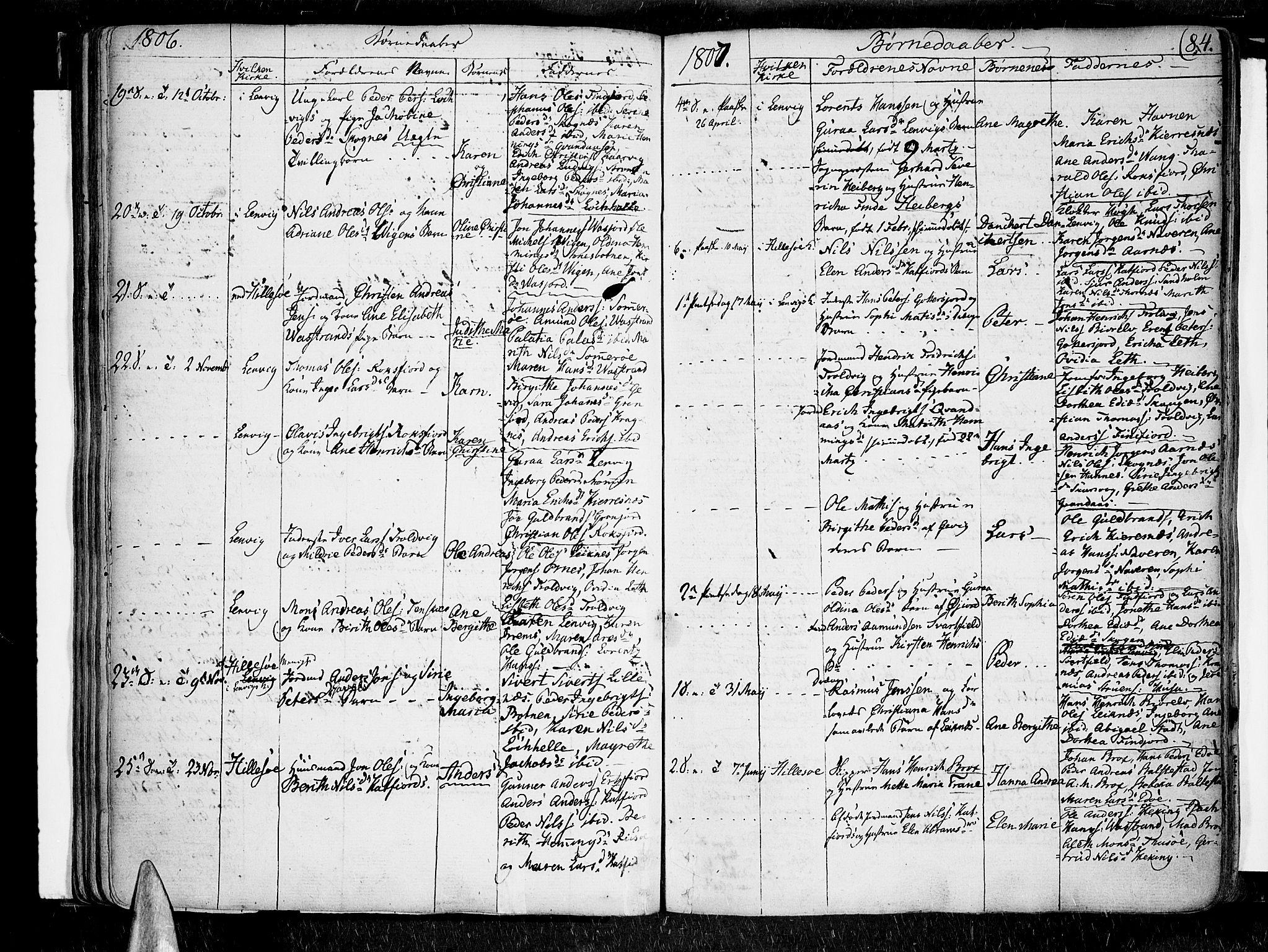 SATØ, Lenvik sokneprestembete, H/Ha: Ministerialbok nr. 2, 1784-1820, s. 84