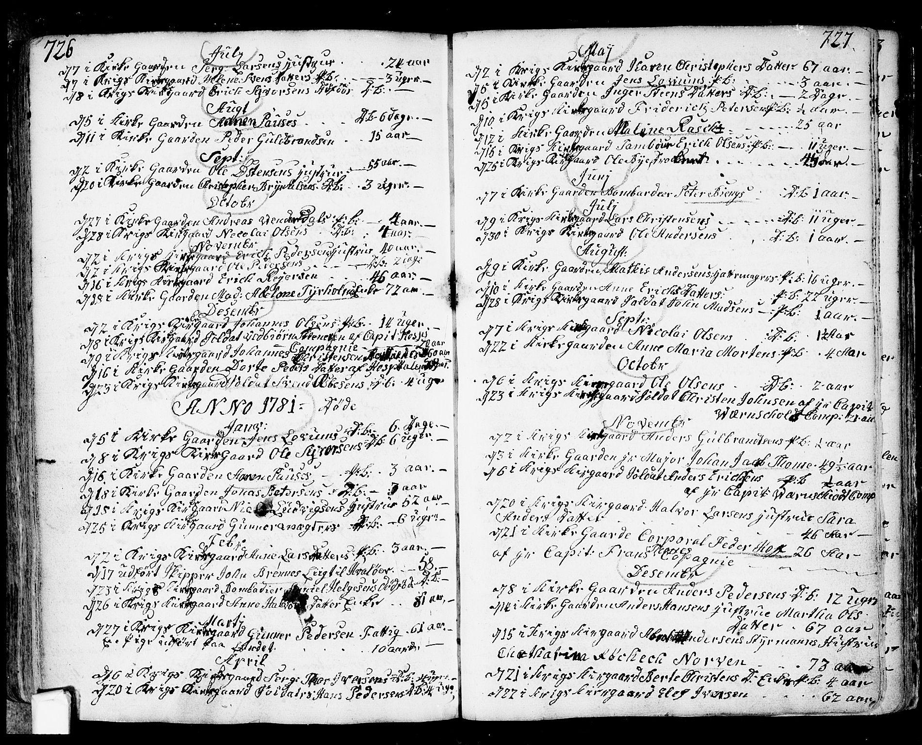 SAO, Fredrikstad prestekontor Kirkebøker, F/Fa/L0002: Ministerialbok nr. 2, 1750-1804, s. 726-727