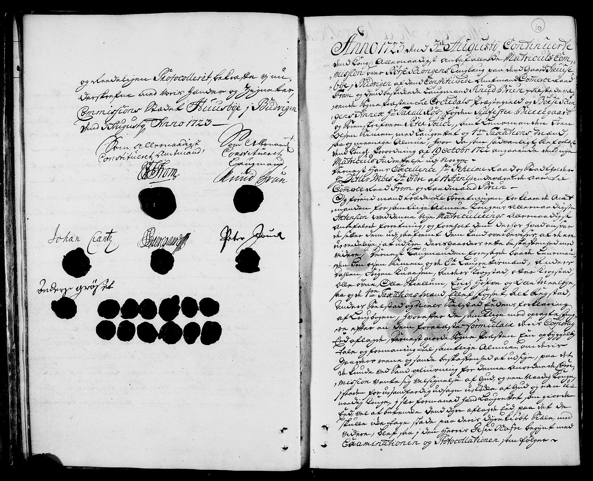RA, Rentekammeret inntil 1814, Realistisk ordnet avdeling, N/Nb/Nbf/L0160: Strinda og Selbu eksaminasjonsprotokoll, 1723, s. 9b-10a