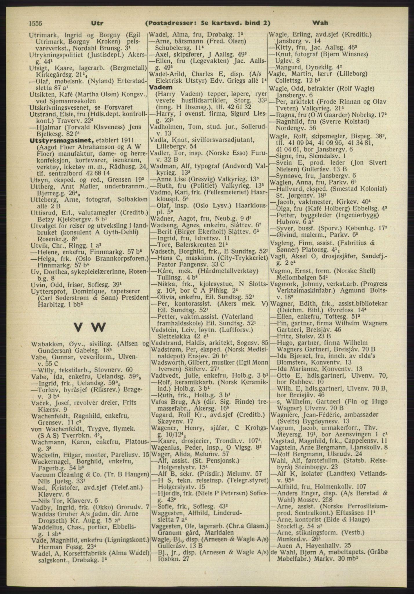 RA, Oslo adressebok (publikasjon)*, 1960-1961, s. 1556