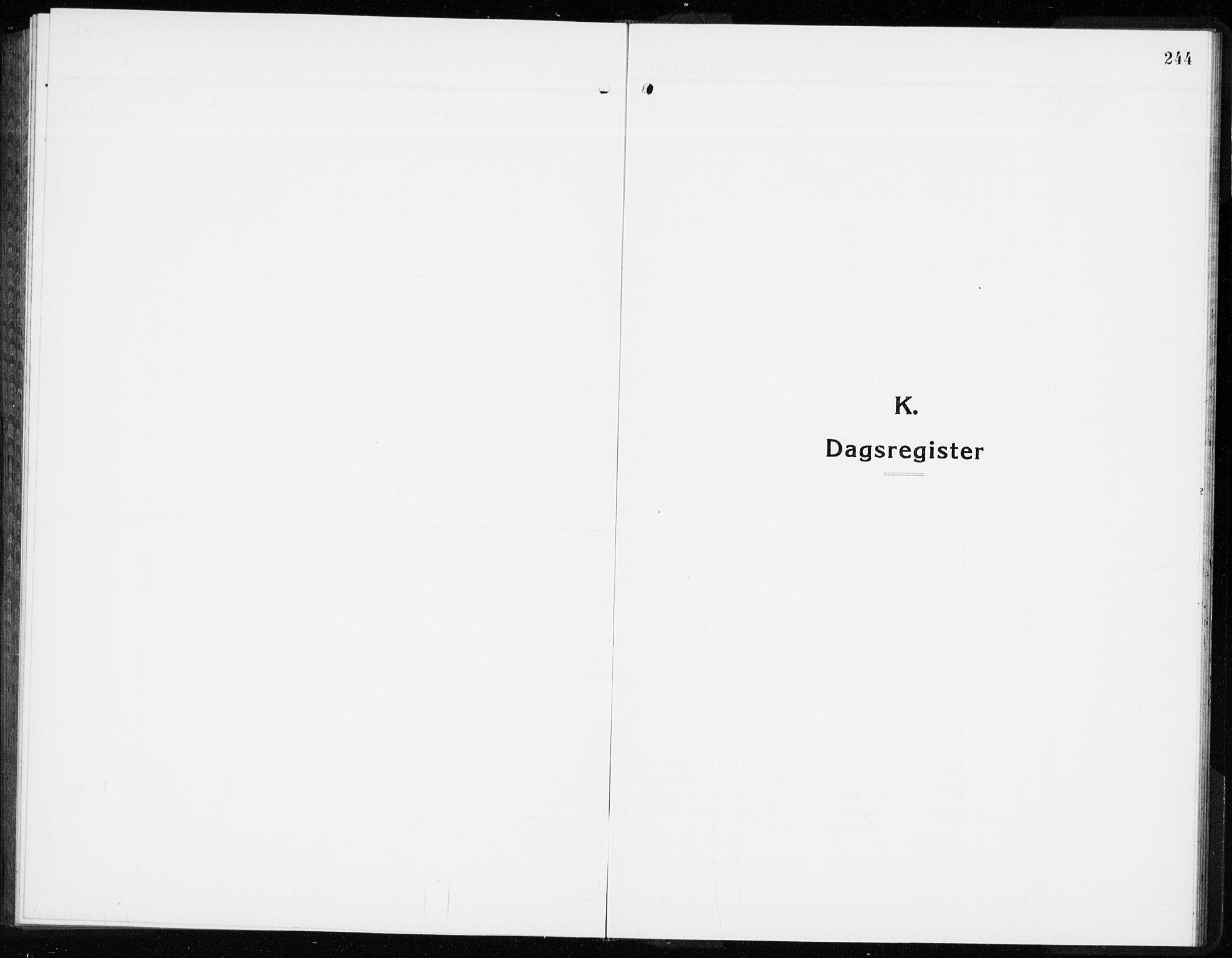 SAKO, Lier kirkebøker, G/Gb/L0005: Klokkerbok nr. II 5, 1932-1942, s. 244