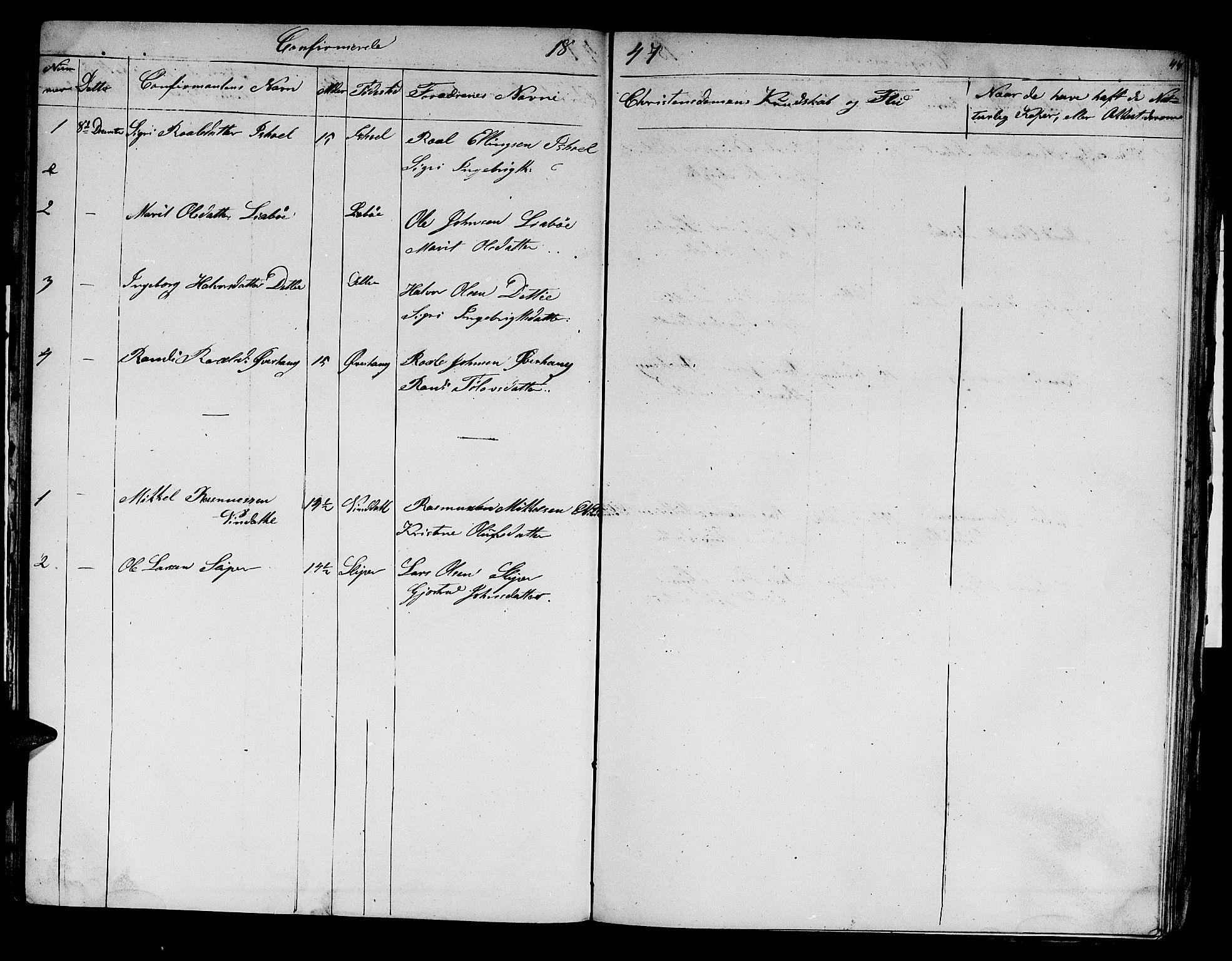 SAT, Ministerialprotokoller, klokkerbøker og fødselsregistre - Sør-Trøndelag, 679/L0922: Klokkerbok nr. 679C02, 1845-1851, s. 44