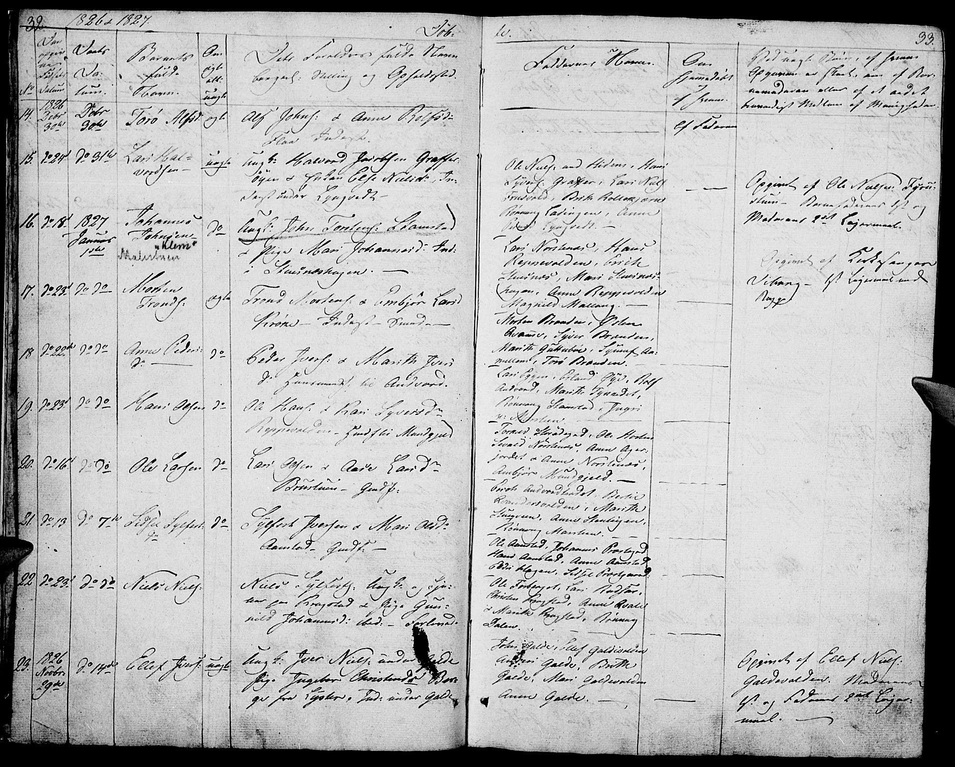 SAH, Lom prestekontor, K/L0005: Ministerialbok nr. 5, 1825-1837, s. 32-33