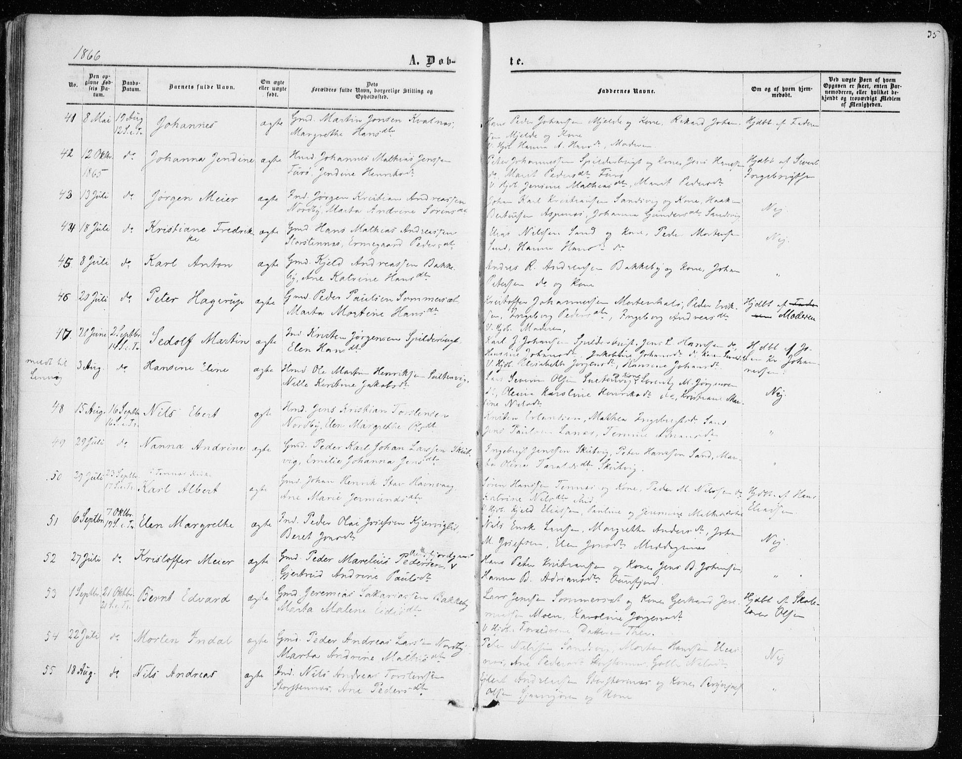 SATØ, Balsfjord sokneprestembete, Ministerialbok nr. 1, 1858-1870, s. 35
