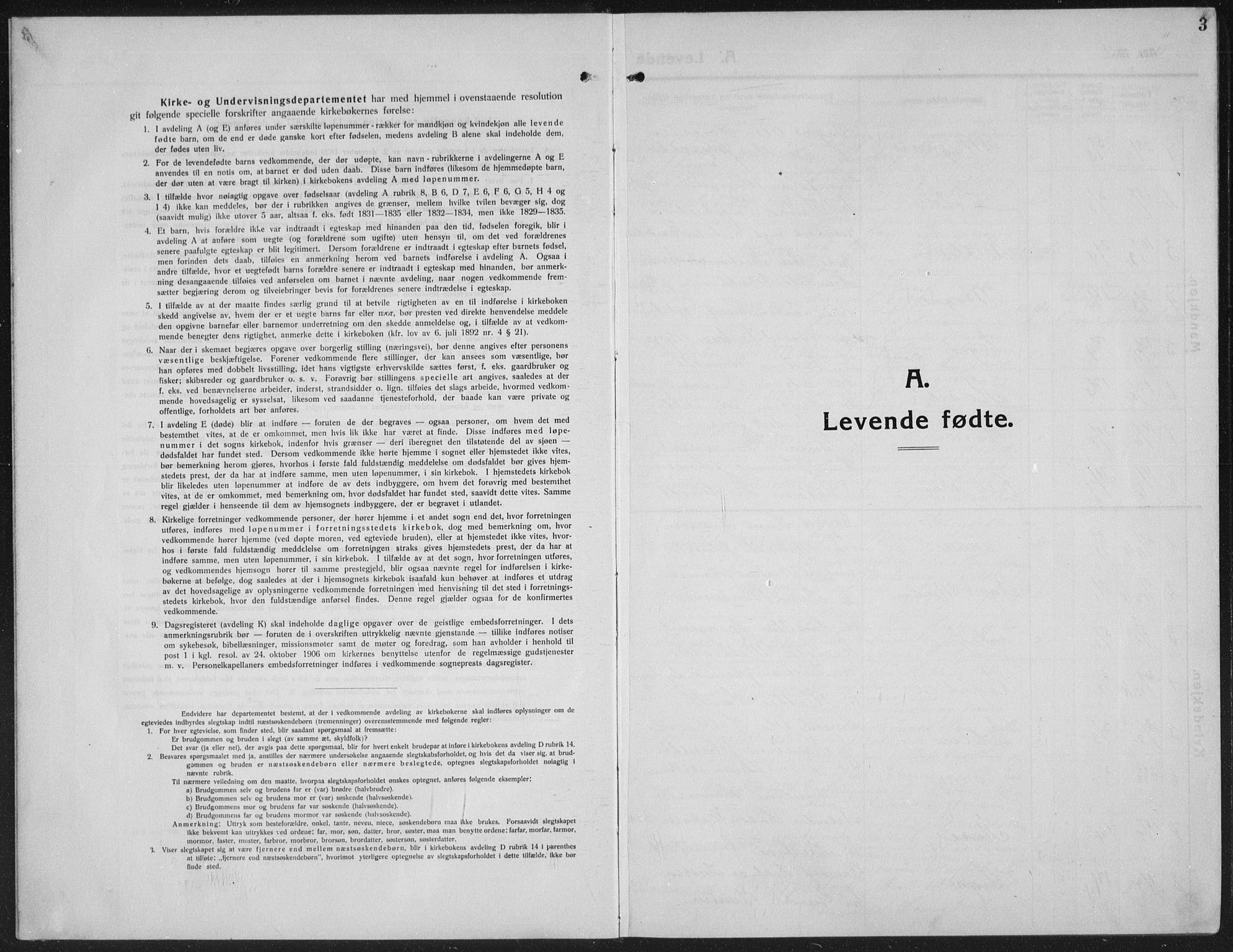 SAH, Ringebu prestekontor, Klokkerbok nr. 10, 1911-1934, s. 3