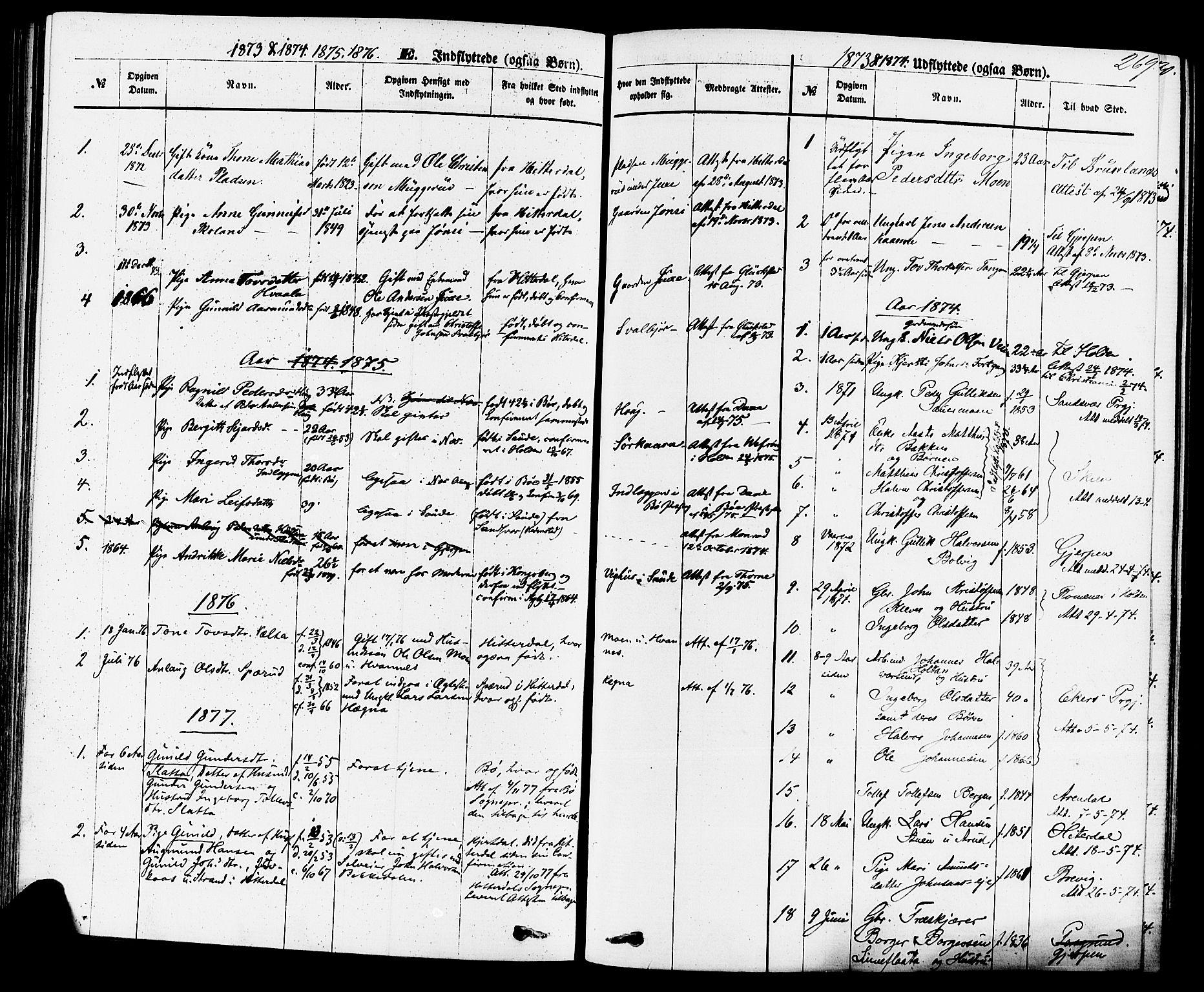 SAKO, Sauherad kirkebøker, F/Fa/L0008: Ministerialbok nr. I 8, 1873-1886, s. 269