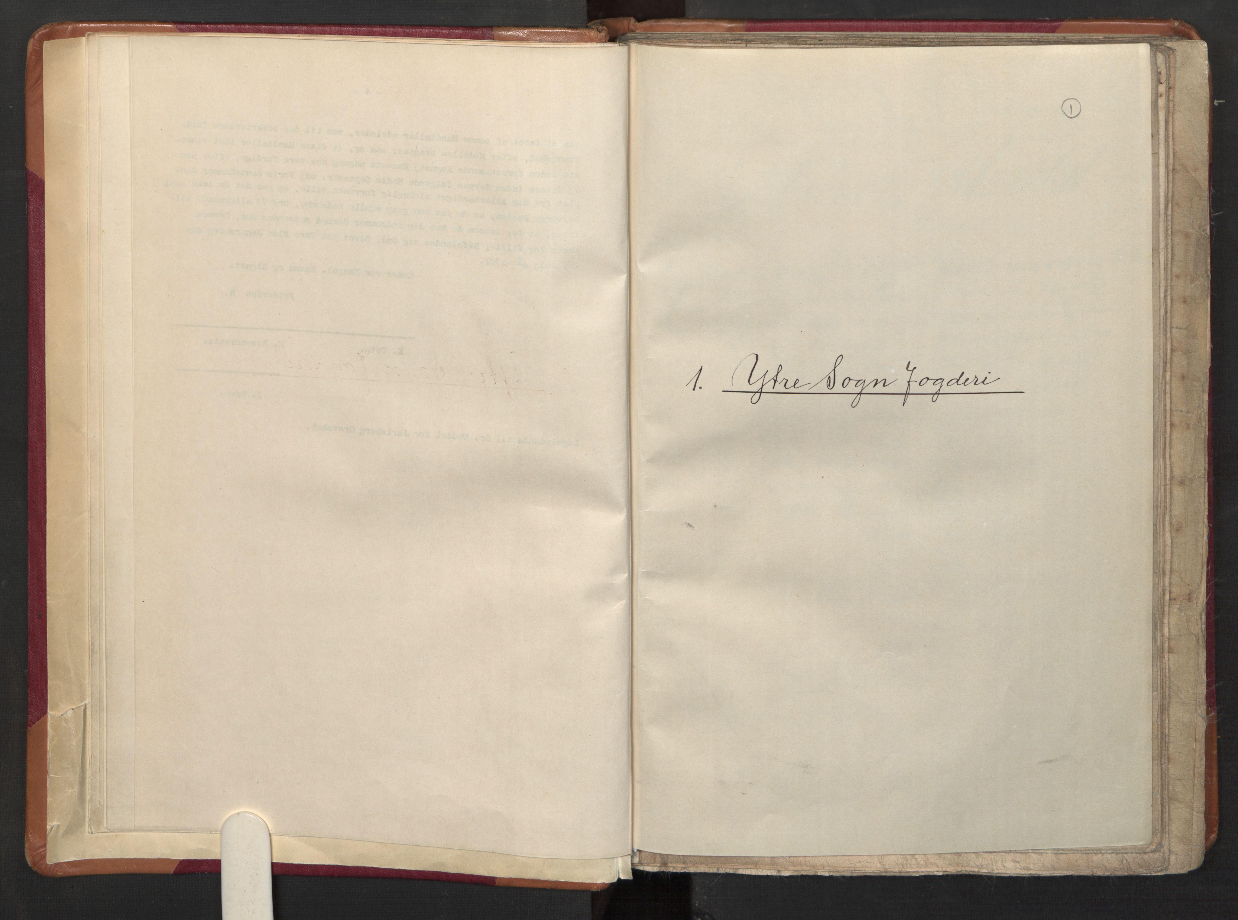 RA, Manntallet 1701, nr. 8: Ytre Sogn fogderi og Indre Sogn fogderi, 1701, s. 1