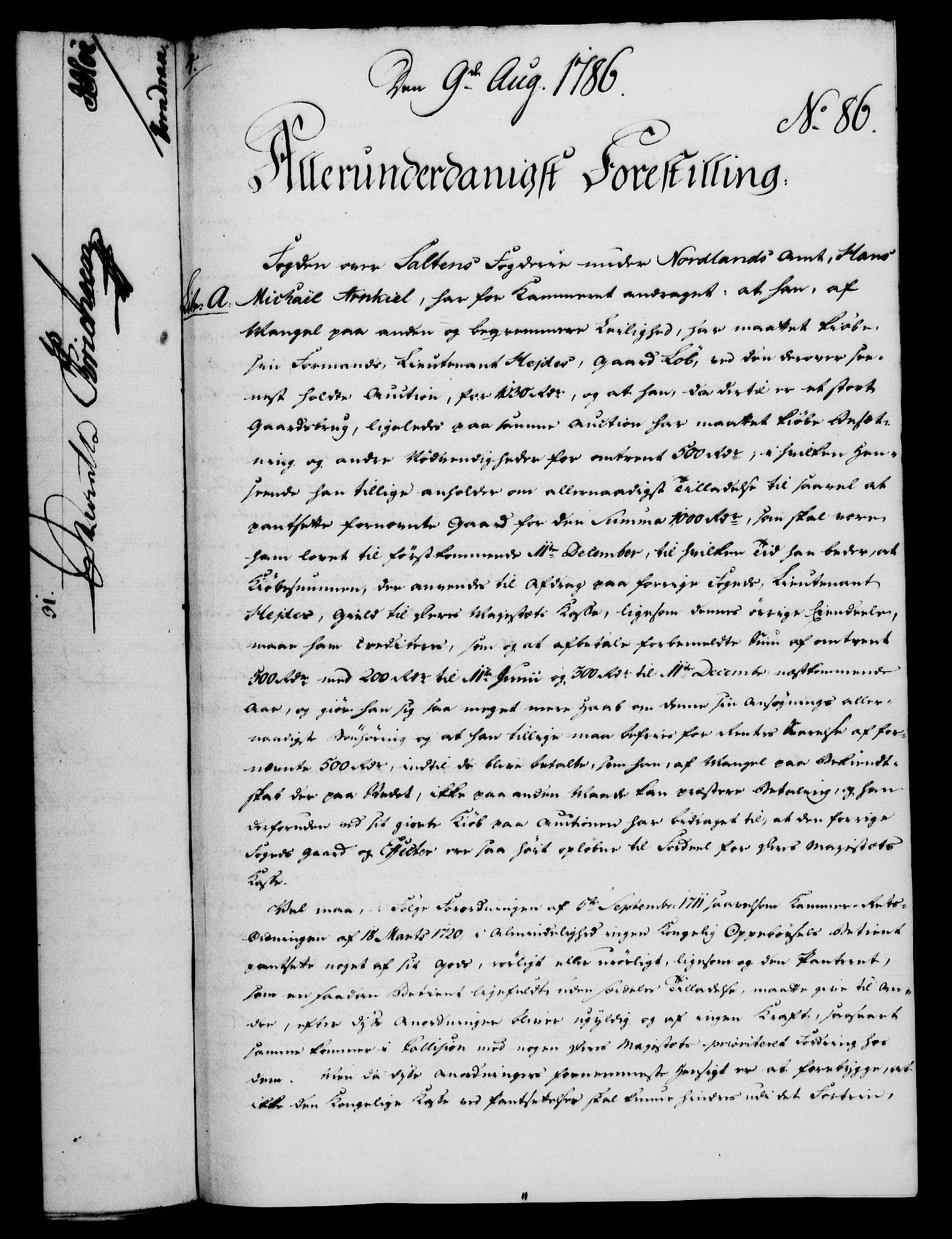 RA, Rentekammeret, Kammerkanselliet, G/Gf/Gfa/L0068: Norsk relasjons- og resolusjonsprotokoll (merket RK 52.68), 1786, s. 546
