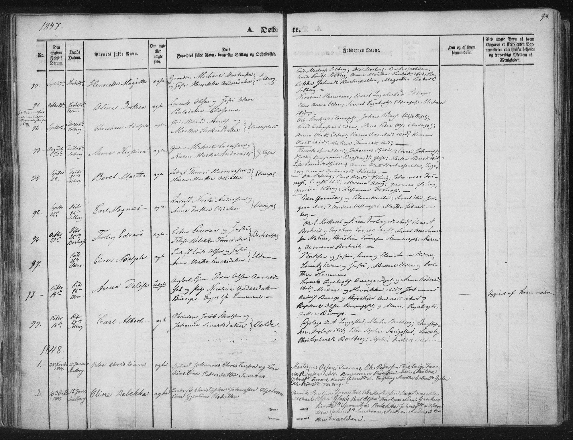 SAT, Ministerialprotokoller, klokkerbøker og fødselsregistre - Nord-Trøndelag, 741/L0392: Ministerialbok nr. 741A06, 1836-1848, s. 98