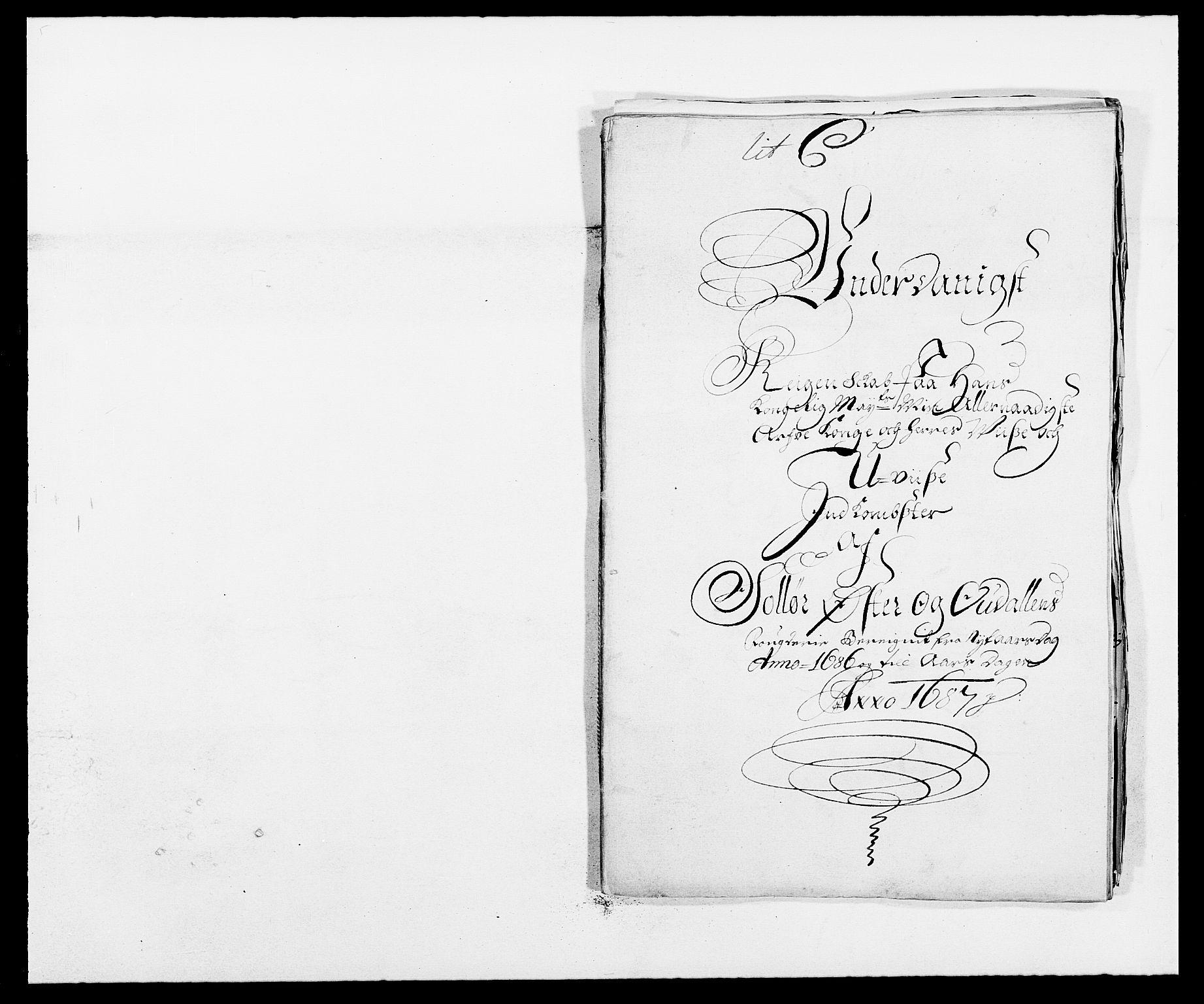 RA, Rentekammeret inntil 1814, Reviderte regnskaper, Fogderegnskap, R13/L0823: Fogderegnskap Solør, Odal og Østerdal, 1686, s. 2