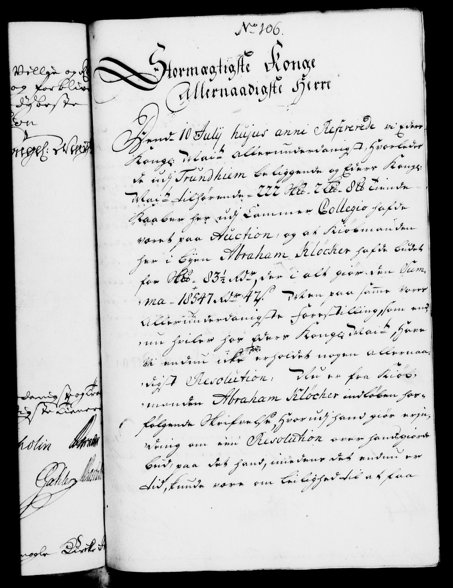 RA, Rentekammeret, Kammerkanselliet, G/Gf/Gfa/L0007: Norsk relasjons- og resolusjonsprotokoll (merket RK 52.7), 1724, s. 716