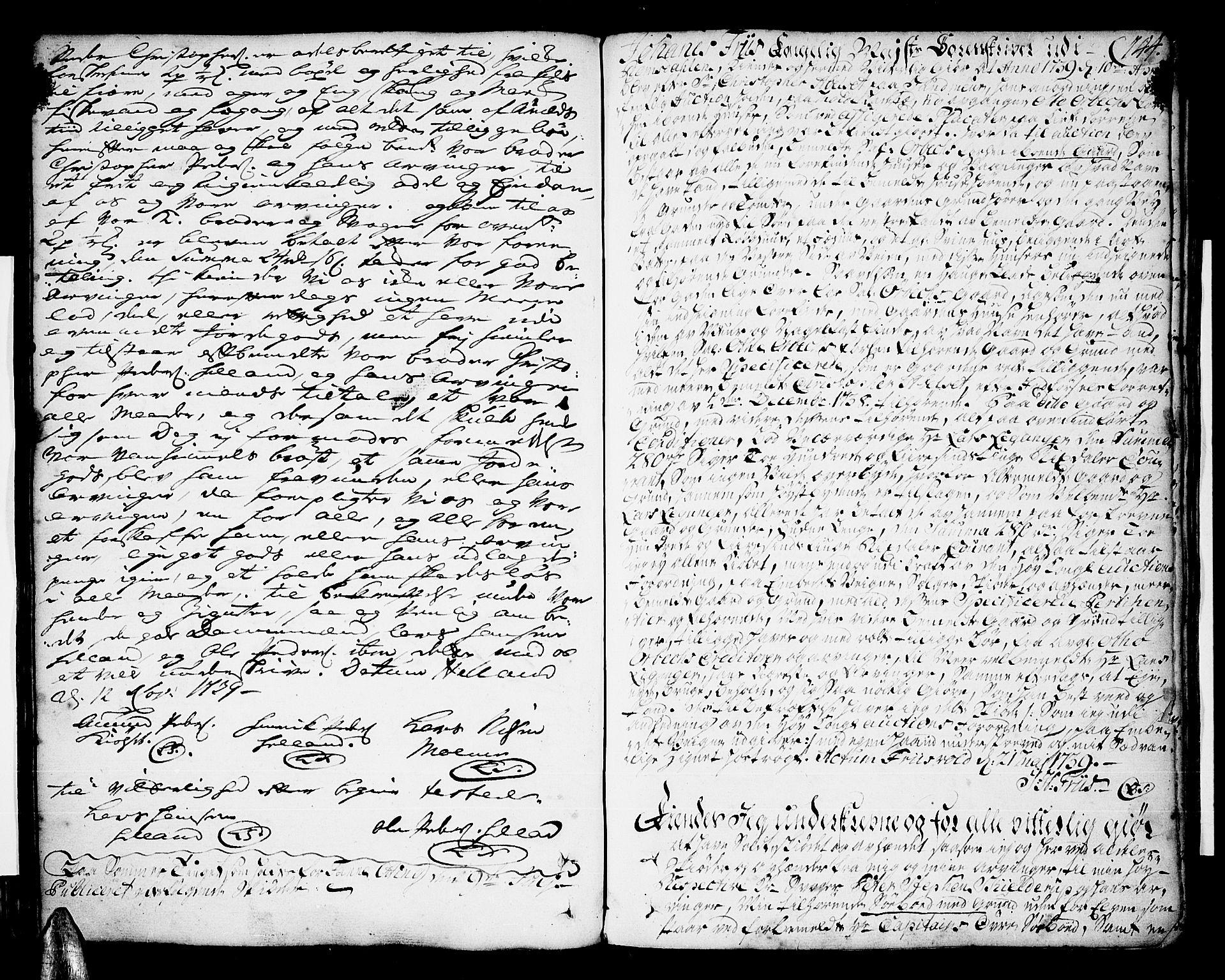 SAT, Romsdal sorenskriveri, 2/2C/L0002: Pantebok nr. 2, 1731-1745, s. 144
