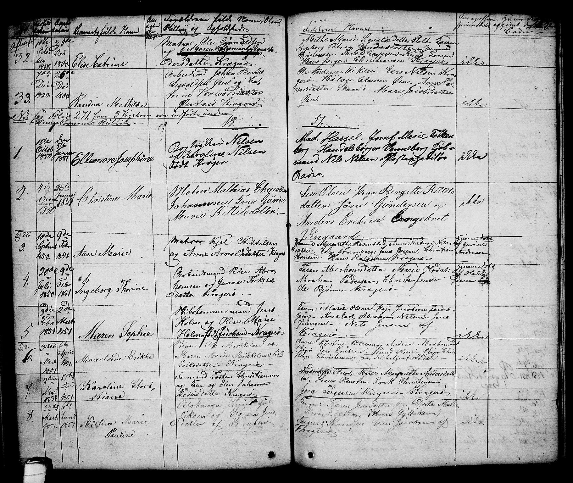 SAKO, Kragerø kirkebøker, G/Ga/L0003: Klokkerbok nr. 3, 1832-1852, s. 243