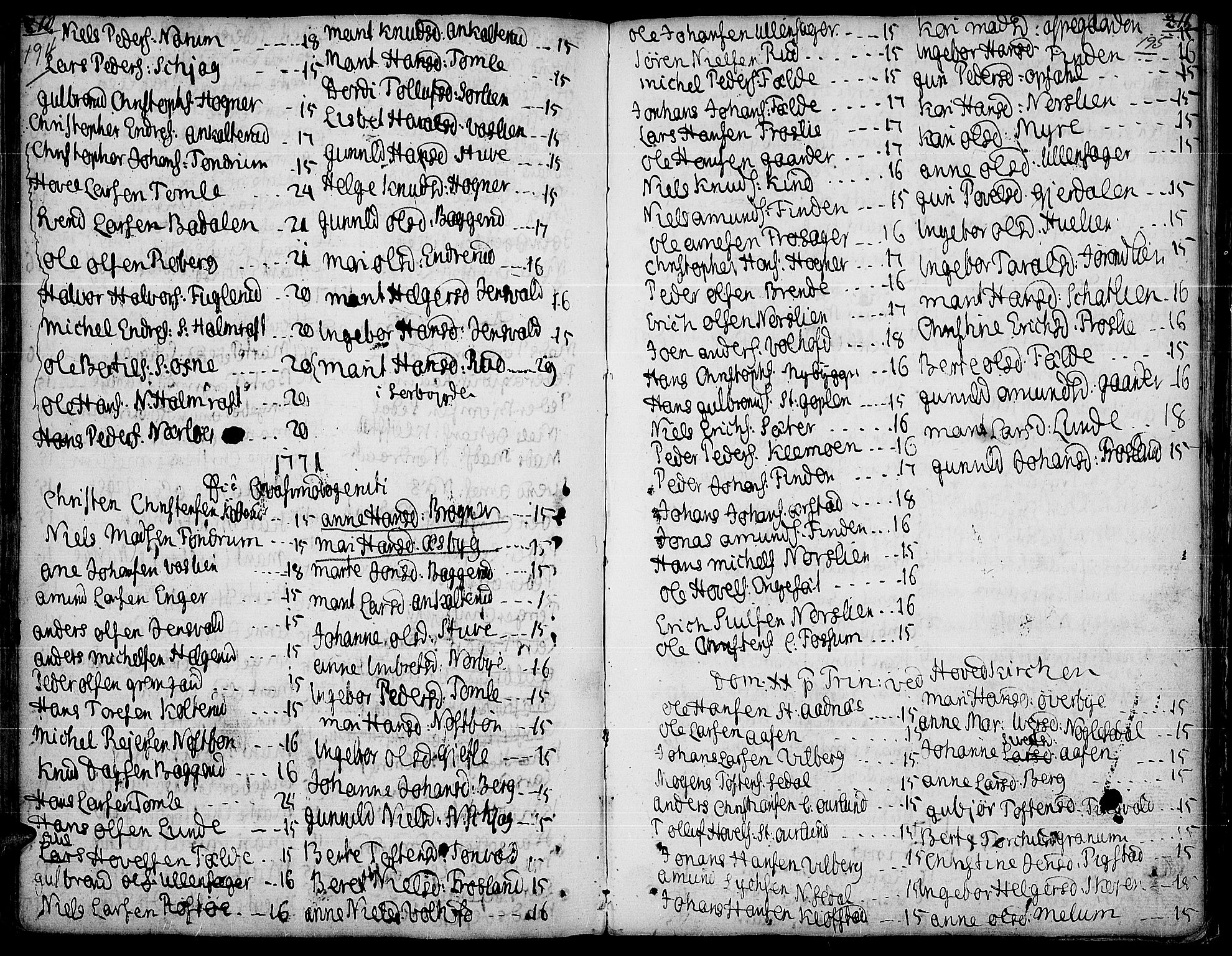 SAH, Land prestekontor, Ministerialbok nr. 5, 1765-1784, s. 194-195