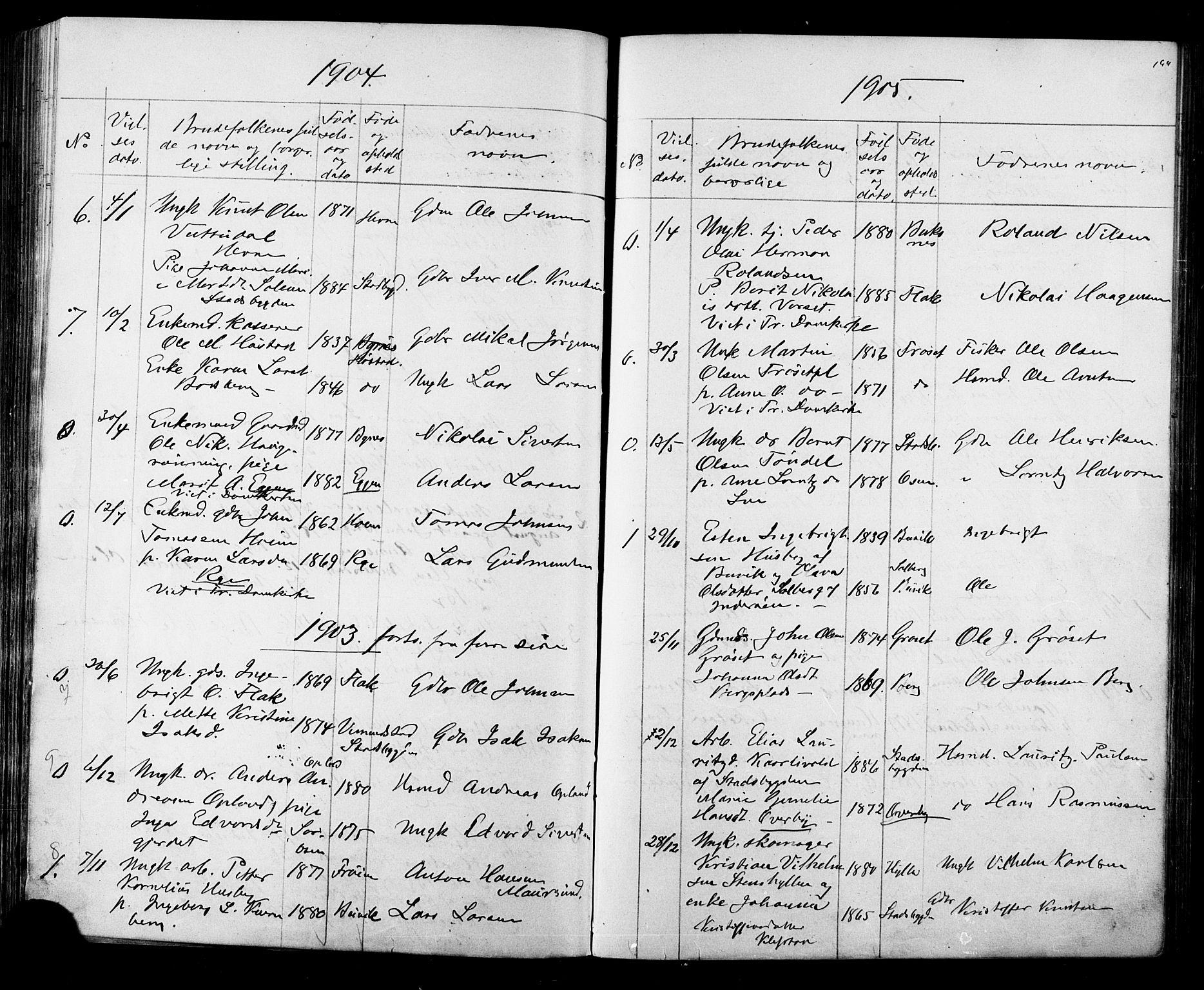 SAT, Ministerialprotokoller, klokkerbøker og fødselsregistre - Sør-Trøndelag, 612/L0387: Klokkerbok nr. 612C03, 1874-1908, s. 194