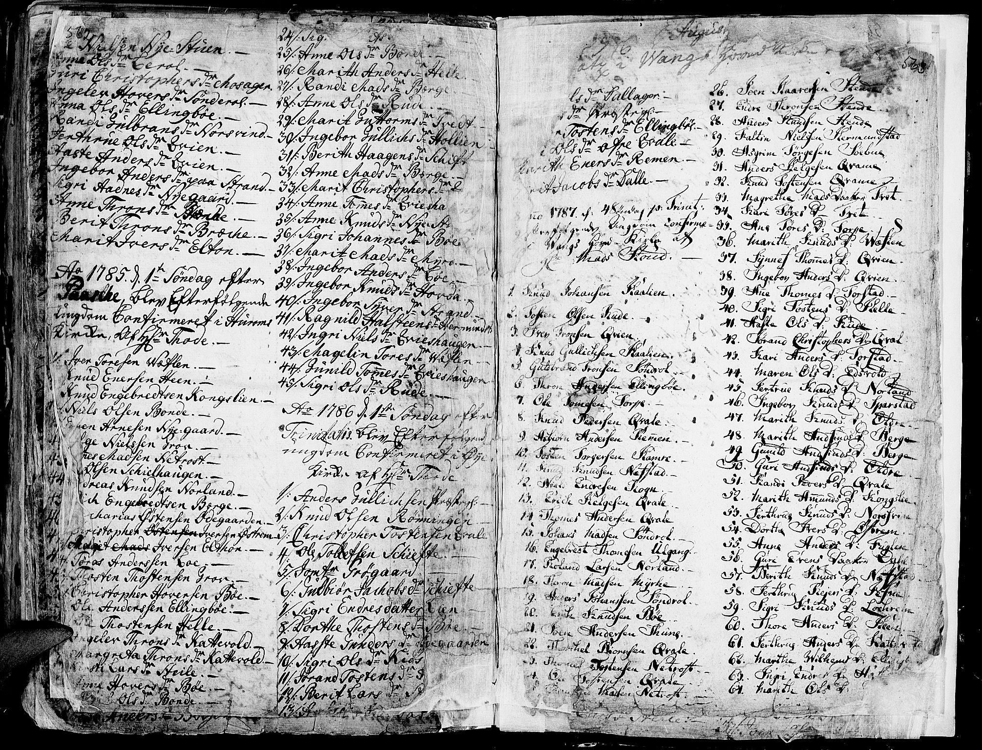 SAH, Vang prestekontor, Valdres, Ministerialbok nr. 1, 1730-1796, s. 562-563