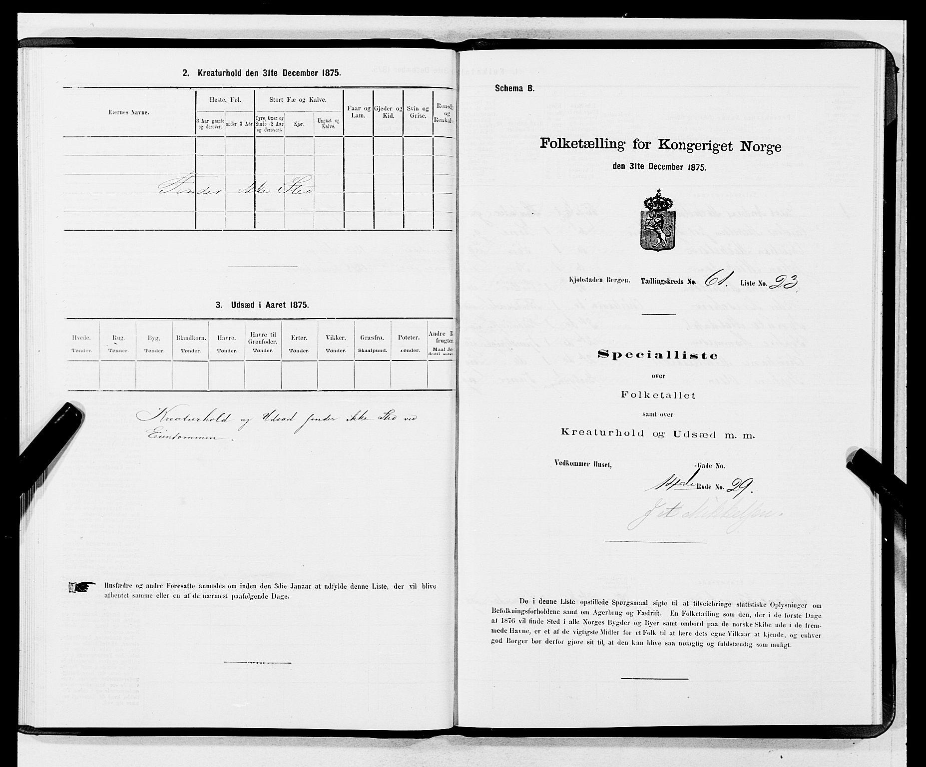 SAB, Folketelling 1875 for 1301 Bergen kjøpstad, 1875, s. 3273
